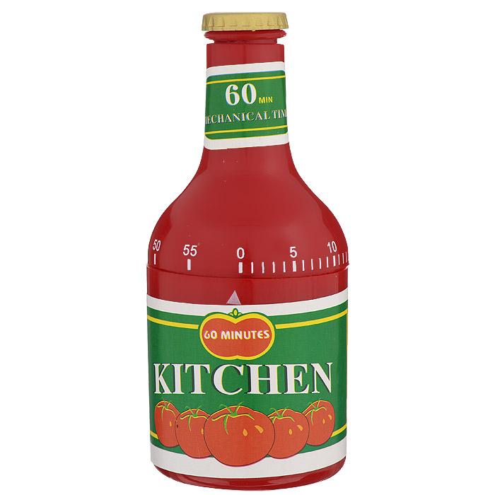 Таймер кухонный Кетчуп, на 60 минут820-016Кухонный таймер Кетчуп изготовлен из цветного пластика. Таймер выполнен в виде банки кетчупа. Максимальное время, на которое вы можете поставить таймер, составляет 60 минут. После того, как время истечет, таймер громко зазвенит. Оригинальный дизайн таймера украсит интерьер любой современной кухни, и теперь вы сможете без труда вскипятить молоко, отварить пельмени или вовремя вынуть из духовки аппетитный пирог.