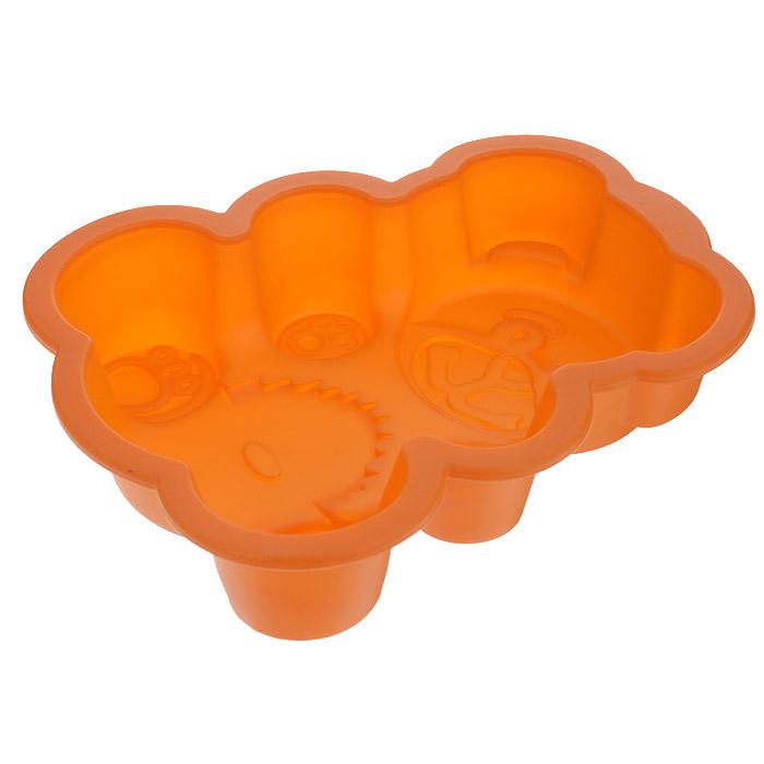 Форма для выпечки Мишка, цвет: оранжевый. 842-022842-022Форма для выпечки Мишка изготовлена из силикона - материала, который выдерживает температура от -22°С до +250°С. Изделия из силикона очень удобны в использовании: пища в них не пригорает и не прилипает к стенкам, легко моется. Изделие обладает эластичными свойствами: складывается без изломов, восстанавливает свою первоначальную форму. Выпечку легко извлечь, вывернув форму на изнанку. Не требует смазывания маслом. Подходит для приготовления в микроволновой печи и духовом шкафу при нагревании до +250°С; для замораживания до -22°С и чистки в посудомоечной машине. Рекомендации по использованию: - не помещайте форму непосредственно на источник тепла (открытый огонь, гриль), - не используйте нож для резки продуктов в форме, - не используйте для чистки абразивные средства, скребки и щетки.