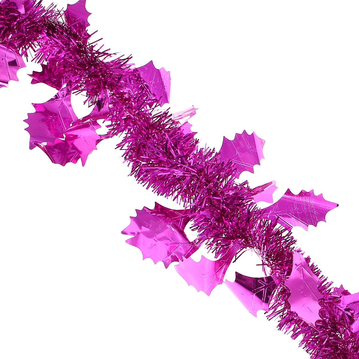 Мишура новогодняя Magic Time, с листьями, диаметр 9 см, длина 200 см, цвет: фиолетовый. 2692426924Новогодняя мишура Magic Time, выполненная из ПЭТ (Полиэтилентерефталат), поможет вам украсить свой дом к предстоящим праздникам. Изделие выполнено в виде скрученной косички. Новогодняя елка с таким украшением станет еще наряднее. Мишура армирована, то есть имеет проволоку внутри и способна сохранять форму. Новогодней мишурой можно украсить все, что угодно - елку, квартиру, дачу, офис - как внутри, так и снаружи. Можно сложить новогодние поздравления, буквы и цифры, мишурой можно украсить и дополнить гирлянды, можно выделить дверные колонны, оплести дверные проемы. Коллекция декоративных украшений из серии Magic Time принесет в ваш дом ни с чем несравнимое ощущение волшебства! Создайте в своем доме атмосферу тепла, веселья и радости, украшая его всей семьей.