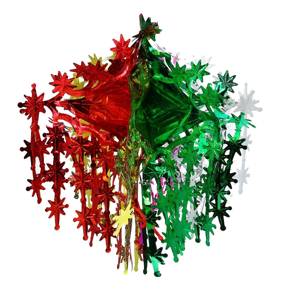 Новогодняя гирлянда Невероятные вензеля, цвет: мульти, 24 х 50 см 3438734387Новогодняя гирлянда прекрасно подойдет для декора дома или офиса. Украшение выполнено из разноцветной металлизированной фольги. С помощью специальных петелек гирлянду можно повесить в любом понравившемся вам месте. Украшение легко складывается и раскладывается. Новогодние украшения несут в себе волшебство и красоту праздника. Они помогут вам украсить дом к предстоящим праздникам и оживить интерьер по вашему вкусу. Создайте в доме атмосферу тепла, веселья и радости, украшая его всей семьей.
