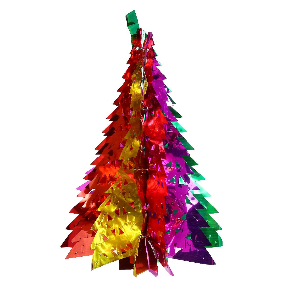 Новогодняя гирлянда Елка, цвет: мульти, 36 см х 12,5 см. 3097130971Новогодняя гирлянда прекрасно подойдет для декора дома или офиса. Украшение выполнено из разноцветной металлизированной фольги. С помощью специальных петелек гирлянду можно повесить в любом понравившемся вам месте. Украшение легко складывается и раскладывается. Новогодние украшения несут в себе волшебство и красоту праздника. Они помогут вам украсить дом к предстоящим праздникам и оживить интерьер по вашему вкусу. Создайте в доме атмосферу тепла, веселья и радости, украшая его всей семьей.