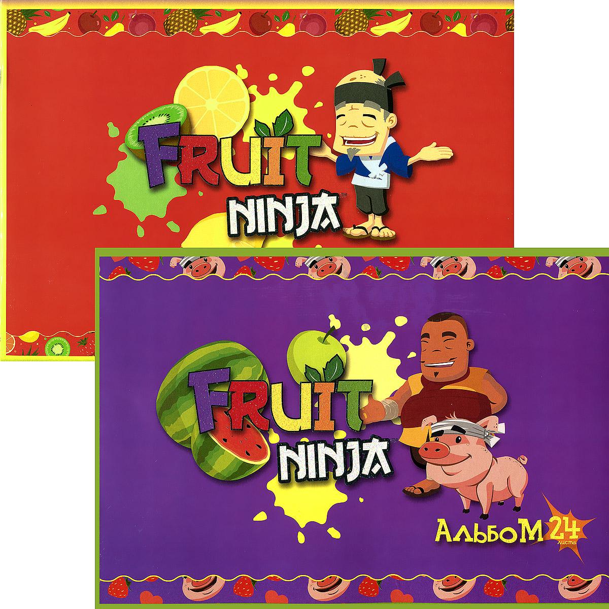 """Набор альбомов для рисования Action! """"Fruit Ninja"""", 24 листа, 2 шт FN-AA-24"""
