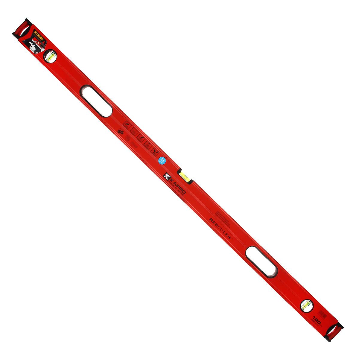 Уровень Kapro PlumbSite Hercules, 3 колбы, 120 см986-41-120Уровень Kapro PlumbSite Hercules используется при необходимости контроля горизонтальных и вертикальных плоскостей. Металлический корпус уровня обеспечивает долгий срок эксплуатации. Оснащен 3 колбами.