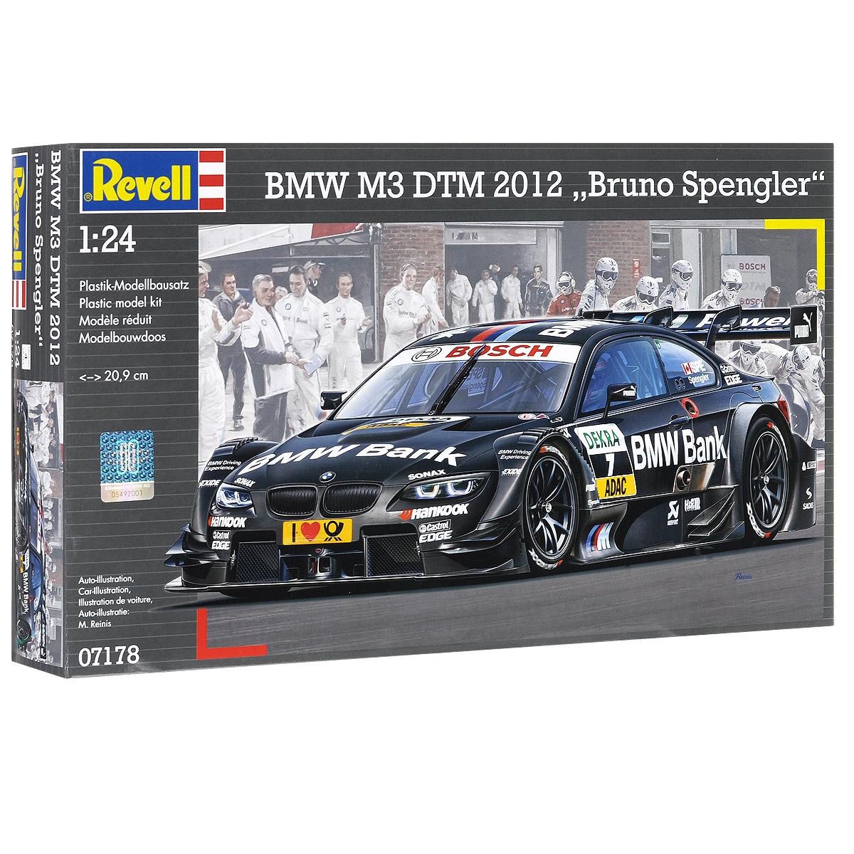 Сборная модель Revell Гоночный автомобиль BMW M3 DTM 2012 Bruno Spengler07178Сборная модель Revell Гоночный автомобиль BMW M3 DTM 2012 Bruno Spengler поможет вам и вашему ребенку придумать увлекательное занятие на долгое время. Набор включает в себя 131 пластиковый элемент, из которых можно собрать достоверную уменьшенную копию одноименного автомобиля. BMW M3 - высокотехнологичная спортивная версия компактных автомобилей BMW 3 серии от BMW M GmbH. Модели M3 сделаны на базе E30, E36, E46 и E90/E92/E93 3-ей серии. Основные отличия от стандартных автомобилей 3 серии включают более мощный двигатель, улучшенная подвеска, более агрессивный и аэродинамичный кузов, множественные акценты как в интерьере так и в экстерьере на принадлежность к линейке M/Motorsport. Также в наборе схематичная инструкция по сборке. Процесс сборки развивает интеллектуальные и инструментальные способности, воображение и конструктивное мышление, а также прививает практические навыки работы со схемами и чертежами. Уровень сложности: 4. ...