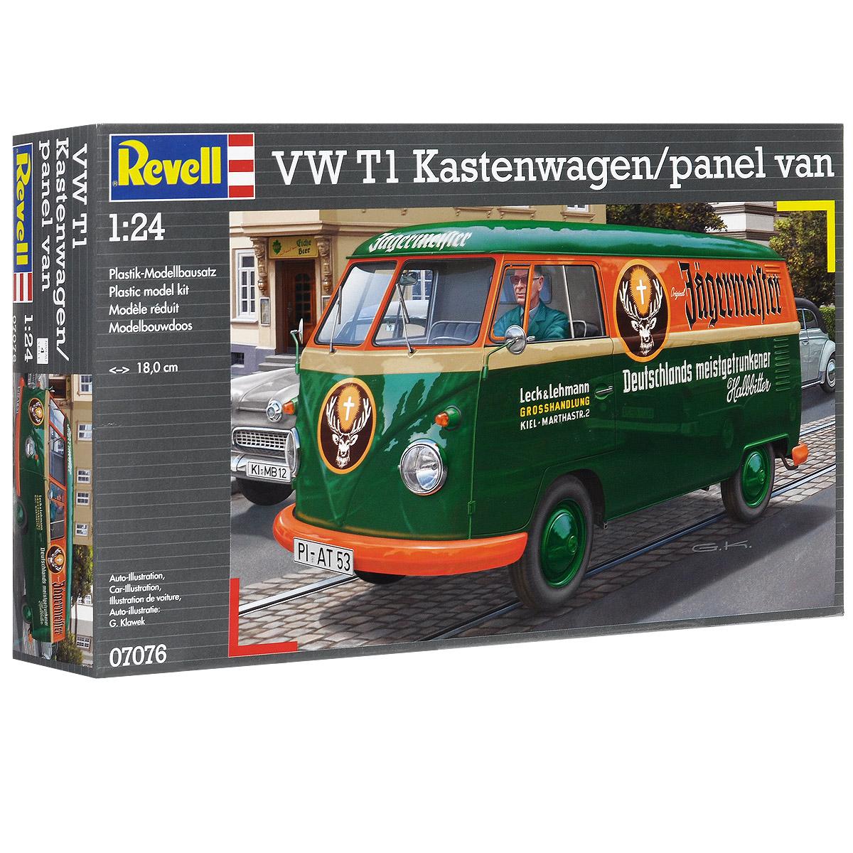 Сборная модель Revell Автомобиль VW T1 Kastenwagen/Panel Van07076Сборная модель Revell Автомобиль VW T1 Kastenwagen/Panel Van поможет вам и вашему ребенку придумать увлекательное занятие на долгое время. Набор включает в себя 124 пластиковых элемента, из которых можно собрать достоверную уменьшенную копию одноименной машины. Volkswagen T1 - автомобиль концерна Volkswagen, производившийся с 1950 по 1967 годы (по 1975 в Бразилии). Один из первых гражданских минивэнов. Автомобиль также стал лицом целой эпохи и, наряду со своим преемником T2, был очень популярен среди хиппи. Также в наборе схематичная инструкция по сборке. Процесс сборки развивает интеллектуальные и инструментальные способности, воображение и конструктивное мышление, а также прививает практические навыки работы со схемами и чертежами. Уровень сложности: 4. УВАЖАЕМЫЕ КЛИЕНТЫ! Обращаем ваше внимание на тот факт, что элементы для сборки не покрашены. Клей и краски в комплект не входят.