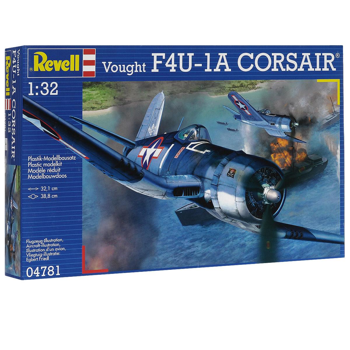 Сборная модель Revell Истребитель-бомбардировщик Vought F4U-1A Corsair04781Сборная модель Revell Истребитель-бомбардировщик Vought F4U-1A Corsair поможет вам и вашему ребенку придумать увлекательное занятие на долгое время. Набор включает в себя 68 пластиковых элементов, из которых можно собрать достоверную уменьшенную копию одноименного самолета. F4U Корсар - палубный одноместный истребитель времен Второй мировой войны. Строился и спроектирован фирмой Чанс-Воут. Военно-морские силы США в 1938 году провели конкурс на разработку палубного истребителя, победа в котором досталась фирме Чанс-Воут. В итоге сконструировали сильно изогнутое складывающееся крыло типа обратная чайка, основные стойки убирающегося шасси были расположены в месте излома крыла. На самолете модели Корсар впервые в авиастроении использована точечная электросварка. 3 июня 1941 года ВМС подписали с фирмой контракт на поставку 580 самолетов этого типа. Также в наборе схематичная инструкция по сборке. Процесс сборки развивает интеллектуальные и инструментальные...