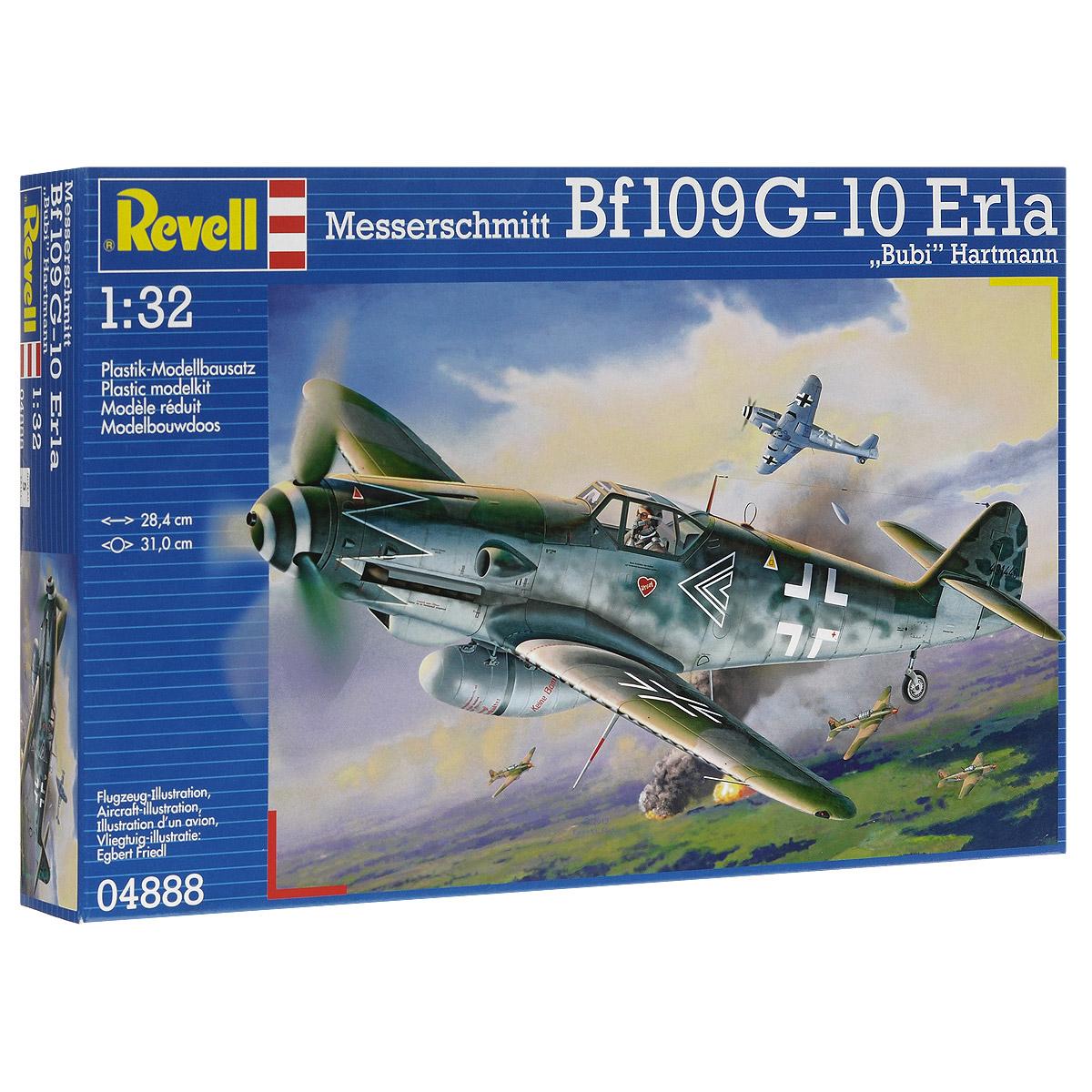 Сборная модель Revell Истребитель Messerschmitt Bf109 G-10 Erla Bubi Hartmann04888Сборная модель Revell Истребитель Messerschmitt Bf109 G-10 Erla Bubi Hartmann поможет вам и вашему ребенку придумать увлекательное занятие на долгое время. Набор включает в себя 147 пластиковых элементов, из которых можно собрать достоверную уменьшенную копию одноименного самолета. Messerschmitt Bf.109 - самый известный и самый массовый немецкий истребитель Второй Мировой. За годы войны промышленность Германии произвела 33 984 самолетов данной модели. По показателю массовости Мессер проигрывает только советскому штурмовику Ил-2. Впервые Bf.109 был использован пилотами легиона Кондор во время гражданской войны в Испании. В ходе Второй мировой Мессер широко применялся на всех театрах военных действий. В том числе и на Восточном фронте. Советские пилоты с уважением относились к этой машине и признавали в ней самого опасного воздушного противника. Стоит отметить, что самый результативный летчик Второй мировой немецкий ас Эрих Хартманн пилотировал именно...