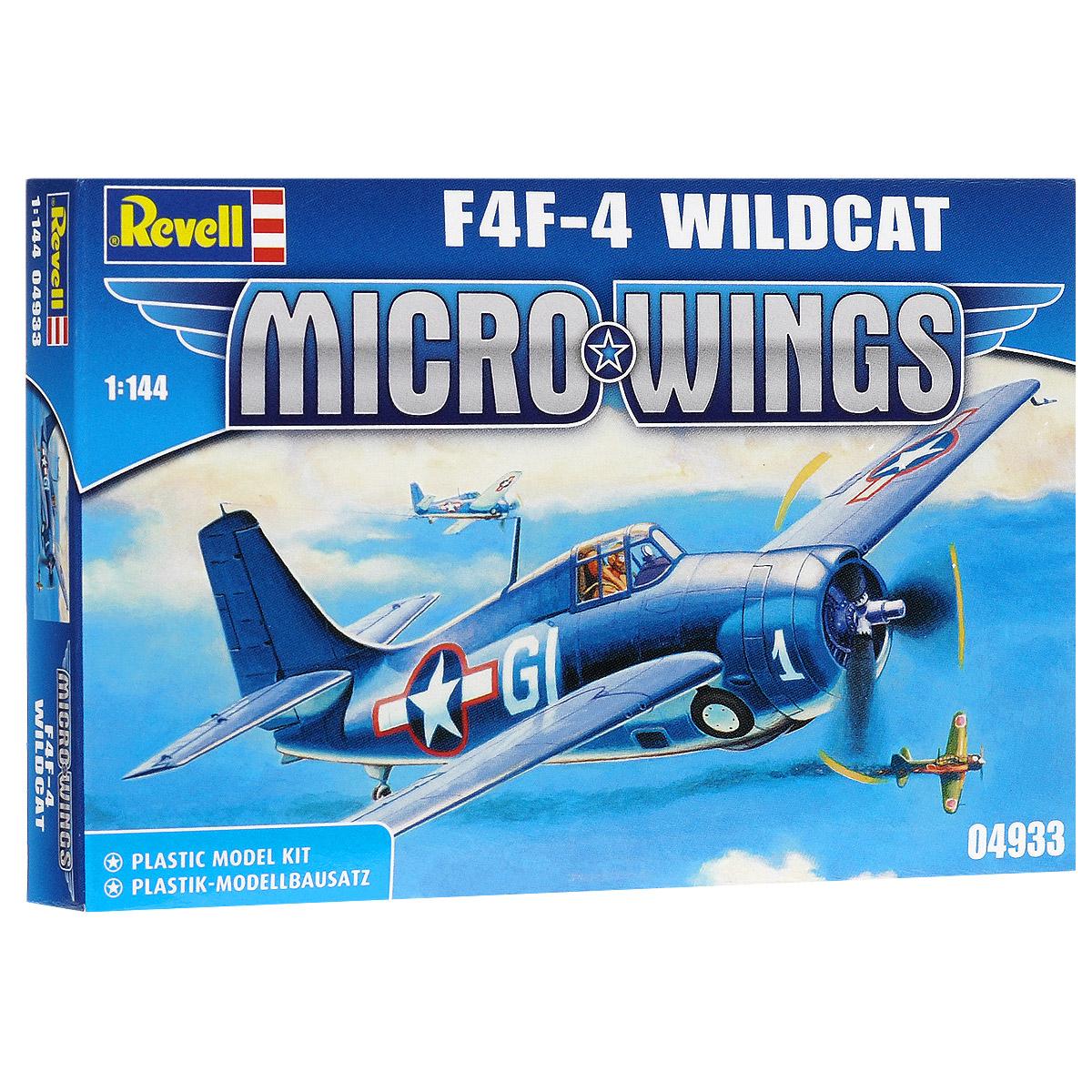 Сборная модель Revell Самолет F4F-4 Wildcat04933Сборная модель Revell Самолет F4F-4 Wildcat поможет вам и вашему ребенку придумать увлекательное занятие на долгое время. Набор включает в себя 18 пластиковых элементов, из которых можно собрать достоверную уменьшенную копию одноименного самолета. Самолет F4F-4 Wildcat - это одноместный истребитель-бомбардировщик. Первоначально самолет F4F-4 Wildcat был спроектирован как биплан, но в серию вошел свободнонесущим среднепланом. Опытный образец совершил свой первый полет в сентябре 1937 года. Также в наборе схематичная инструкция по сборке. Процесс сборки развивает интеллектуальные и инструментальные способности, воображение и конструктивное мышление, а также прививает практические навыки работы со схемами и чертежами. УВАЖАЕМЫЕ КЛИЕНТЫ! Обращаем ваше внимание на тот факт, что элементы для сборки не покрашены. Клей и краски в комплект не входят.