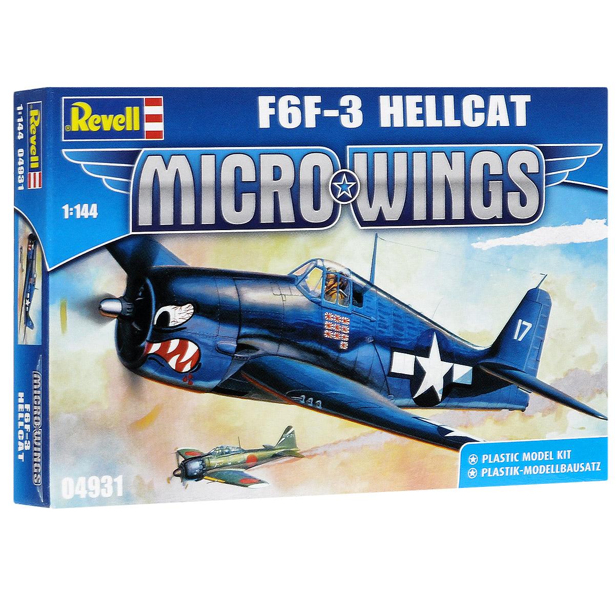 Сборная модель Revell Самолет F6F-3 Hellcat04931Сборная модель Revell Самолет F6F-3 Hellcat поможет вам и вашему ребенку придумать увлекательное занятие на долгое время. Набор включает в себя 20 пластиковых элементов, из которых можно собрать достоверную уменьшенную копию одноименного самолета. Самолет F6F-3 Hellcat представляет собой глубокую модернизацию истребителя F4F Hellcat. В июне 1941 г. ВМС США заключили с фирмой Грумман договор о коренной модернизации Hellcat. Но в рамках задания создали фактически новый самолет с другой формой фюзеляжа, конструкцией шасси и более мощным двигателем. Производство F6F началось в январе 1943 года. Первый боевой вылет в августе 1943 года. По американским данным за два года боев на Тихом океане американские летчики на F6F сбили 5156 самолетов. На Hellcat летал Дэвид Маккэмпбелл, самый результативный ас ВМС США. Всего было выпущено 4423 истребителя, 1130 из них было передано ВВС Великобритании. Также в наборе схематичная инструкция по сборке. Процесс сборки...