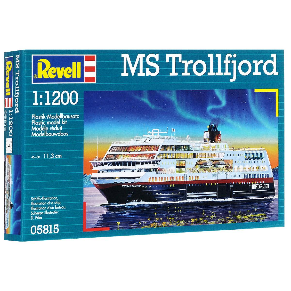 Сборная модель Revell Круизный лайнер MS Trollfjord05815Сборная модель Revell Круизный лайнер MS Trollfjord поможет вам и вашему ребенку придумать увлекательное занятие на долгое время. Набор включает в себя 43 пластиковых элемента, из которых можно собрать достоверную уменьшенную копию одноименного корабля. Корабль, плавающий под норвежским флагом, курсирует между городами Берген и Киркенес. Палубы лайнера способны вместить до 823 пассажиров и 45 автомобилей. Также в наборе схематичная инструкция по сборке. Процесс сборки развивает интеллектуальные и инструментальные способности, воображение и конструктивное мышление, а также прививает практические навыки работы со схемами и чертежами. Уровень сложности: 3. УВАЖАЕМЫЕ КЛИЕНТЫ! Обращаем ваше внимание на тот факт, что элементы для сборки не покрашены. Клей и краски в комплект не входят.