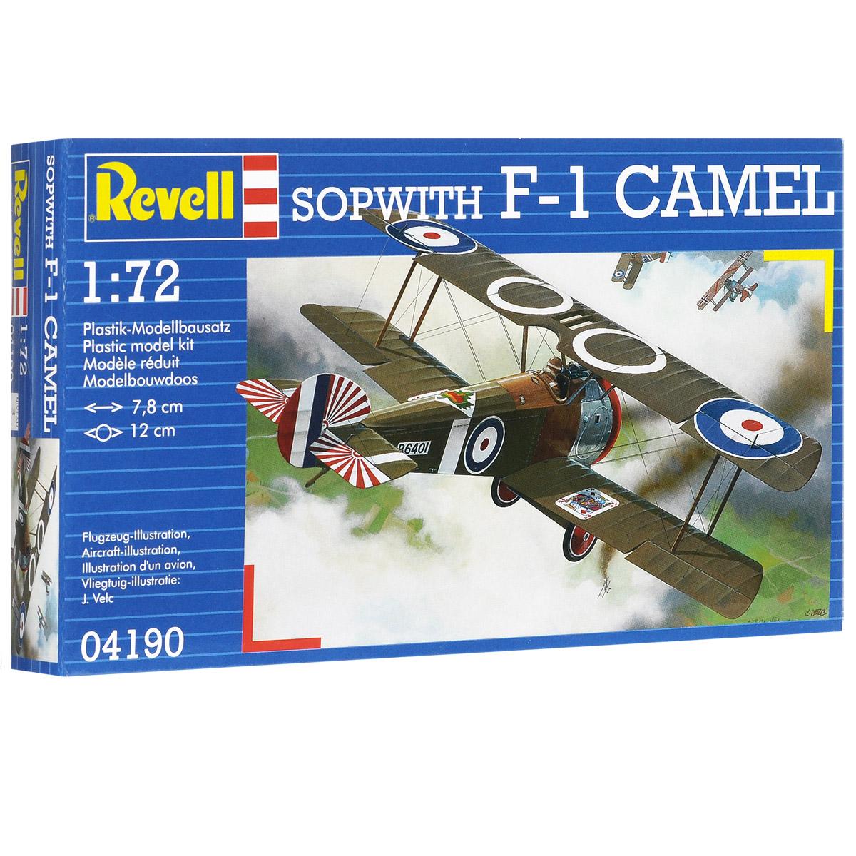 Сборная модель Revell Самолет Sopwith F-1 Camel04190Сборная модель Revell Самолет Sopwith F-1 Camel поможет вам и вашему ребенку придумать увлекательное занятие на долгое время. Набор включает в себя 23 пластиковых элемента, из которых можно собрать достоверную уменьшенную копию одноименного самолета. Sopwith Camel - британский одноместный истребитель времен Первой мировой войны, известен отличной маневренностью среди самолетов тех лет. Разработан компанией Sopwith Aviation Company. Также в наборе схематичная инструкция по сборке. Процесс сборки развивает интеллектуальные и инструментальные способности, воображение и конструктивное мышление, а также прививает практические навыки работы со схемами и чертежами. Уровень сложности: 3. УВАЖАЕМЫЕ КЛИЕНТЫ! Обращаем ваше внимание на тот факт, что элементы для сборки не покрашены. Клей и краски в комплект не входят.