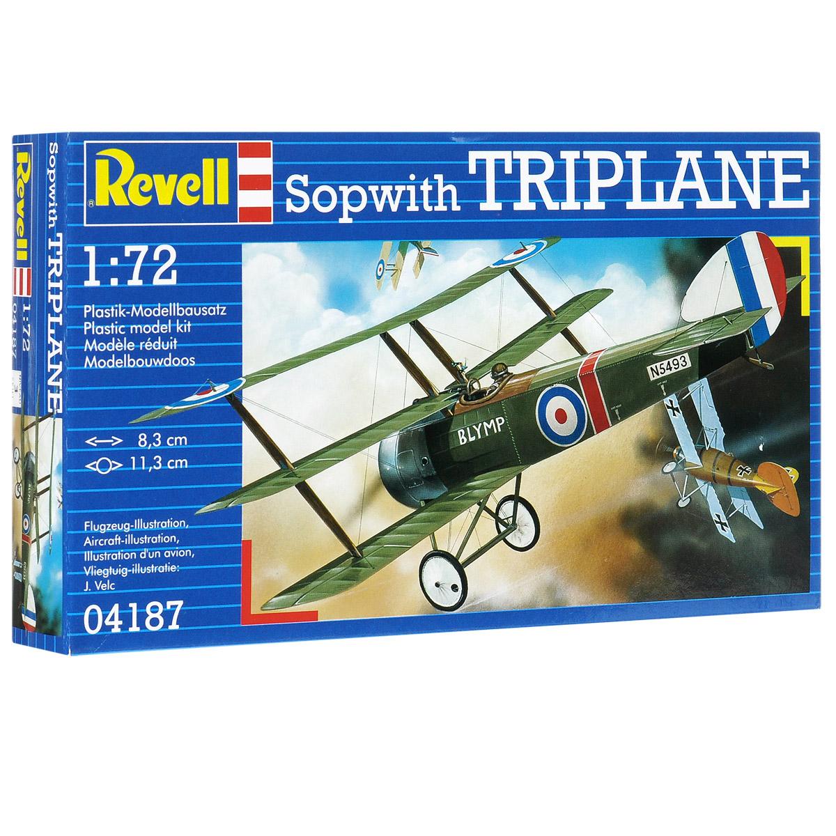 Сборная модель Revell Самолет Sopwith Triplane04187Сборная модель Revell Самолет Sopwith Triplane поможет вам и вашему ребенку придумать увлекательное занятие на долгое время. Набор включает в себя 23 пластиковых элемента, из которых можно собрать достоверную уменьшенную копию одноименного самолета. Sopwith Triplane - истребитель-триплан ВВС Великобритании времен Первой мировой войны. Самолет успешно использовался с начала 1917 года, пока не был заменен выпущенным в конце 1917 года бипланом Sopwith Camel, после чего использовался для обучения пилотов. Также в наборе схематичная инструкция по сборке. Процесс сборки развивает интеллектуальные и инструментальные способности, воображение и конструктивное мышление, а также прививает практические навыки работы со схемами и чертежами. Уровень сложности: 3. УВАЖАЕМЫЕ КЛИЕНТЫ! Обращаем ваше внимание на тот факт, что элементы для сборки не покрашены. Клей и краски в комплект не входят.