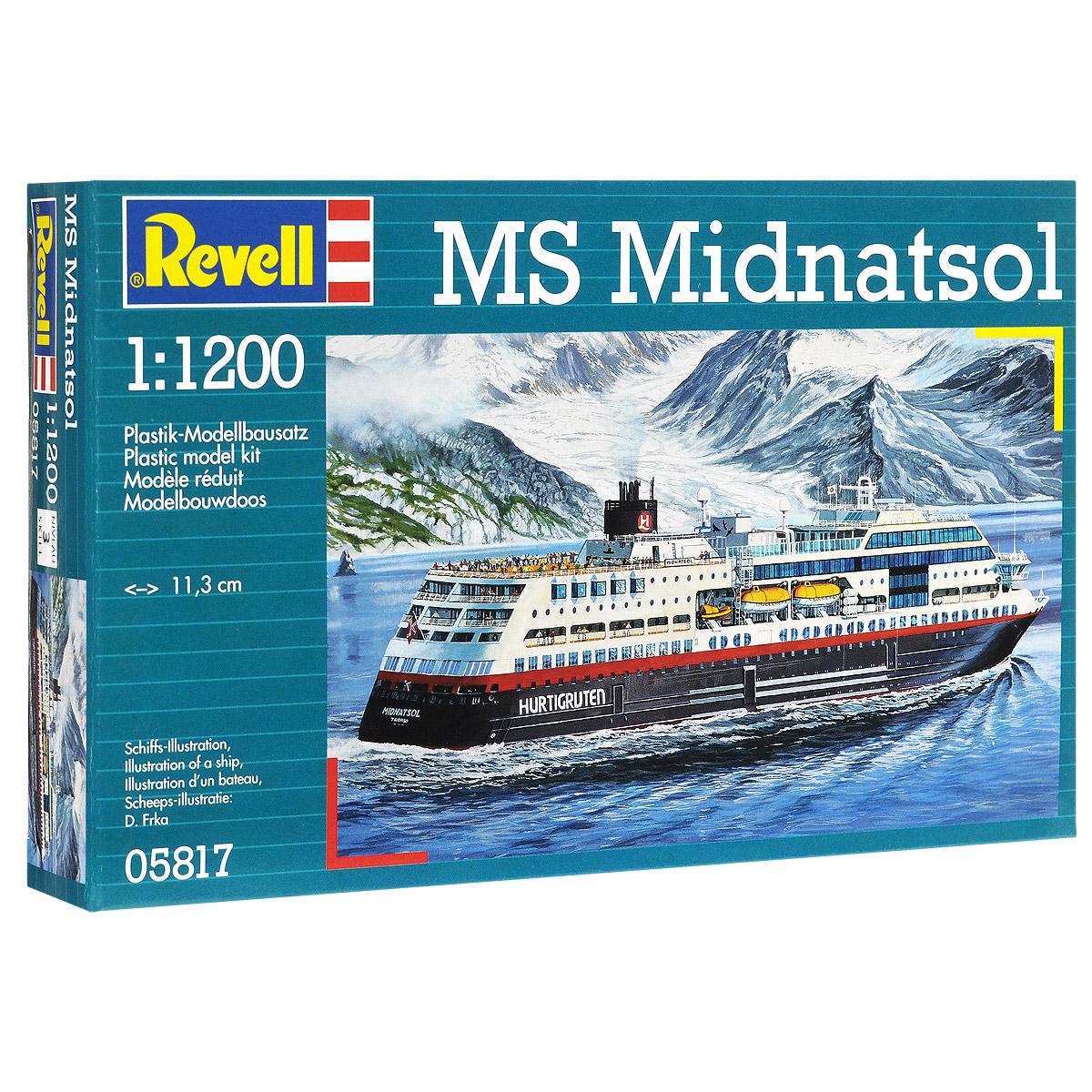 Сборная модель Revell Круизный лайнер MS Midnatsol05817Сборная модель Revell Круизный лайнер MS Midnatsol поможет вам и вашему ребенку придумать увлекательное занятие на долгое время. Набор включает в себя 42 пластиковых элемента, из которых можно собрать достоверную уменьшенную копию одноименного корабля. Корабль, плавающий под норвежским флагом, курсирует между городами Берген и Киркенес. Палубы лайнера способны вместить до 1000 пассажиров и 50 автомобилей. В любой момент судно может быть переделано в плавучий госпиталь, рассчитанный на 200 пациентов. Также в наборе схематичная инструкция по сборке. Процесс сборки развивает интеллектуальные и инструментальные способности, воображение и конструктивное мышление, а также прививает практические навыки работы со схемами и чертежами. Уровень сложности: 3. УВАЖАЕМЫЕ КЛИЕНТЫ! Обращаем ваше внимание на тот факт, что элементы для сборки не покрашены. Клей и краски в комплект не входят.