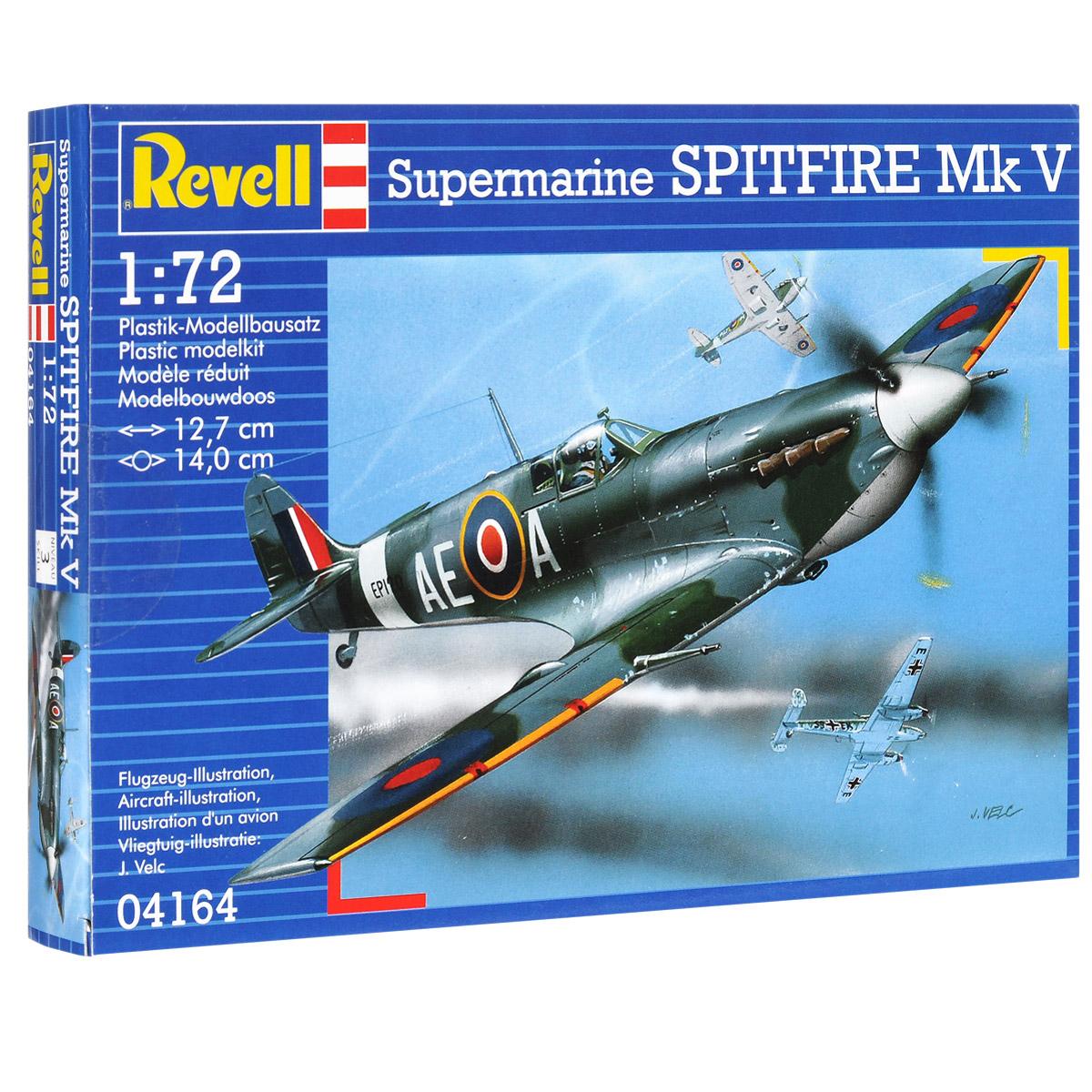 Сборная модель Revell Самолет Supermarine SpritFire Мk V04164Сборная модель Revell Самолет Supermarine SpritFire Мk V поможет вам и вашему ребенку придумать увлекательное занятие на долгое время. Набор включает в себя 39 пластиковых элементов, из которых можно собрать достоверную уменьшенную копию одноименного самолета. Supermarine Spitfire - английский истребитель времен Второй мировой войны. Считается одним из лучших истребителей Второй мировой войны. Его различные модификации использовались в качестве истребителя, истребителя-перехватчика, высотного истребителя, истребителя-бомбардировщика и самолета-разведчика. Всего был построен 20 351 экземпляр, включая двухместные тренировочные машины. Часть машин оставалась в строю до середины 1950-х годов. Также в наборе схематичная инструкция по сборке. Процесс сборки развивает интеллектуальные и инструментальные способности, воображение и конструктивное мышление, а также прививает практические навыки работы со схемами и чертежами. Уровень сложности: 3....