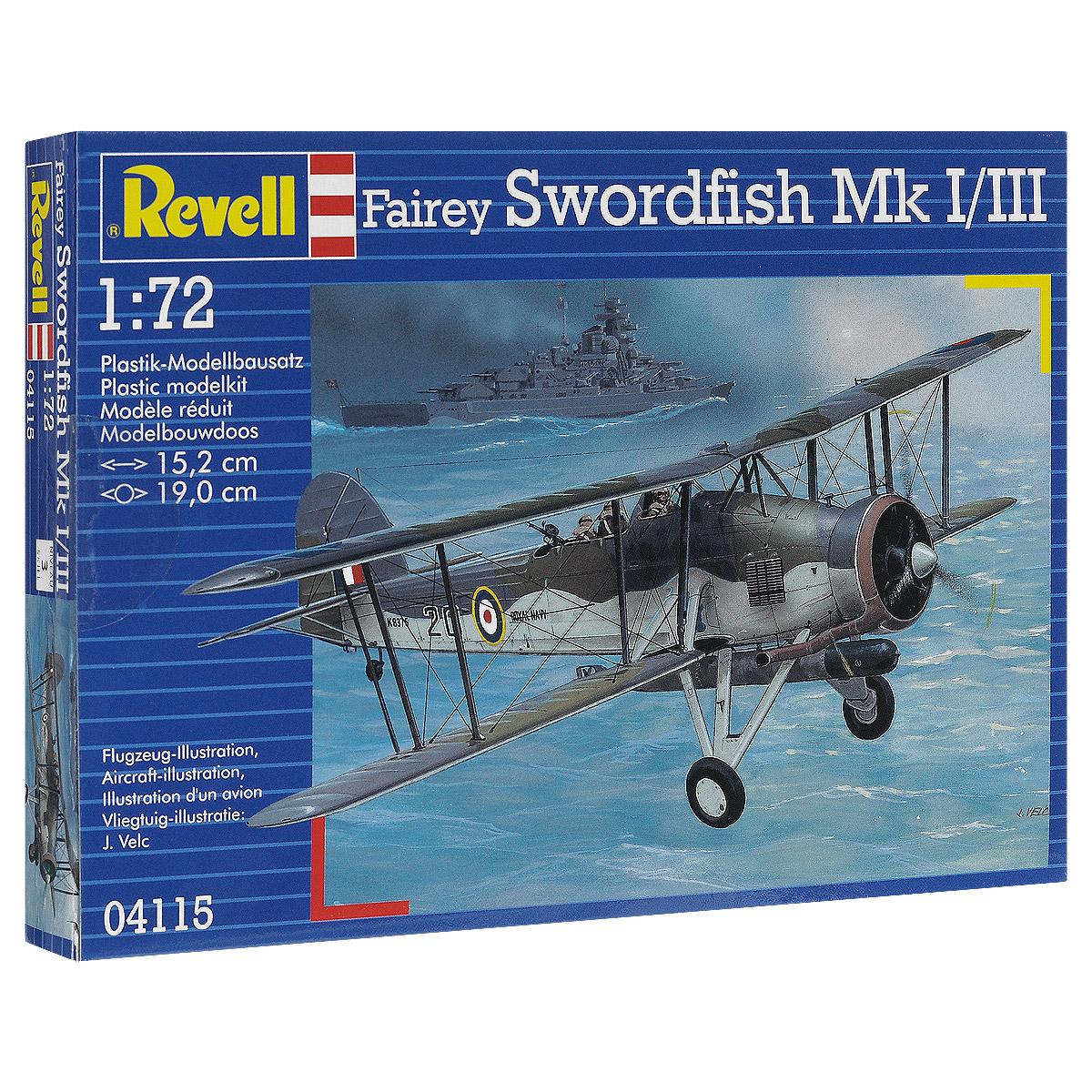 Сборная модель Revell Самолет Fairey Swordfish Mk I/III04115Сборная модель Revell Самолет Fairey Swordfish Mk I/III поможет вам и вашему ребенку придумать увлекательное занятие на долгое время. Набор включает в себя 68 пластиковых элементов, из которых можно собрать достоверную уменьшенную копию одноименного самолета. К началу Второй мировой самолет морально устарел, тем не менее активно использовался вплоть до завершения войны. Самолеты этого типа совершили первую торпедную атаку во время войны. 11 апреля 1940 года звено Swordfish атаковало немецкие эсминцы в гавани норвежского Тронтхейма. Еще через два дня торпедоносцы добились своей первой победы, потопив подлодку U-64. Поучаствовали эти самолеты и в потоплении линкора Бисмарк. Swordfish обнаружили немецкий корабль и нанесли ему повреждения, которые не позволили уйти линкору от кораблей союзников. Также в наборе схематичная инструкция по сборке. Процесс сборки развивает интеллектуальные и инструментальные способности, воображение и конструктивное мышление, а также...
