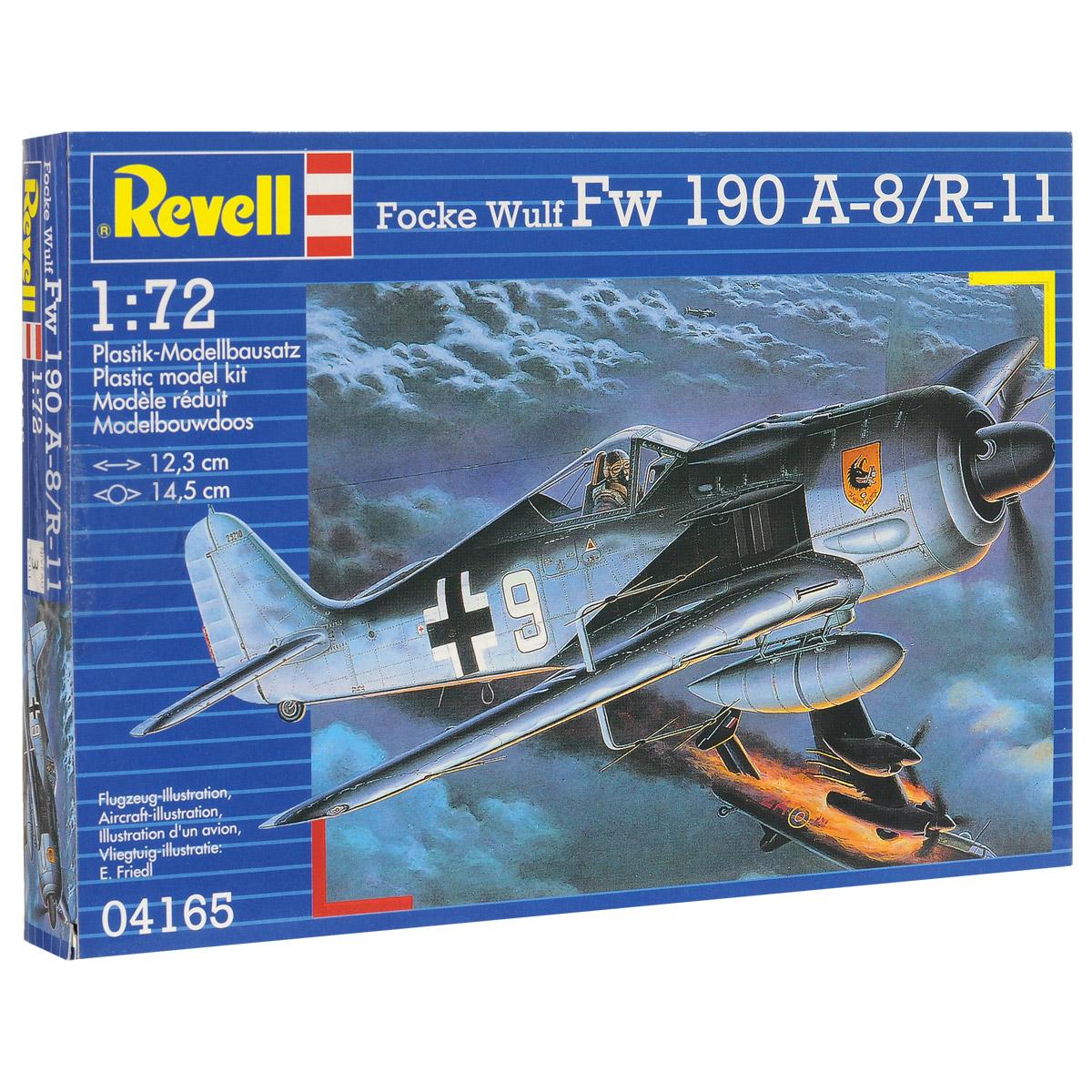 Сборная модель Revell Самолет Focke Wulf Fw 190 А-8/R-1104165Сборная модель Revell Самолет Focke Wulf Fw 190 А-8/R-11 поможет вам и вашему ребенку придумать увлекательное занятие на долгое время. Набор включает в себя 54 пластиковых элемента, из которых можно собрать достоверную уменьшенную копию одноименного самолета. Первый полет самолет совершил за несколько месяцев до начала войны. В эскадрильи новые машины стали поступать лишь в начале 1941 года. На Восточном фронте Fw 190 впервые были задействованы под Ленинградом. Немецкая машина проигрывала основным советским истребителям в маневренности, но благодаря высокой скорости пикирования летчики Люфтваффе могли легко выходить из боя. В целом новый истребитель не давал им особых преимуществ перед советскими пилотами. Поэтому основным истребителем на Восточном фронте стал BF-109. Модификация Fw 190 А-8 создавалась, прежде всего, для борьбы с бомбардировщиками союзников. Машина получила усиленное бронирование и вооружение. Была установлена система форсажа, а...