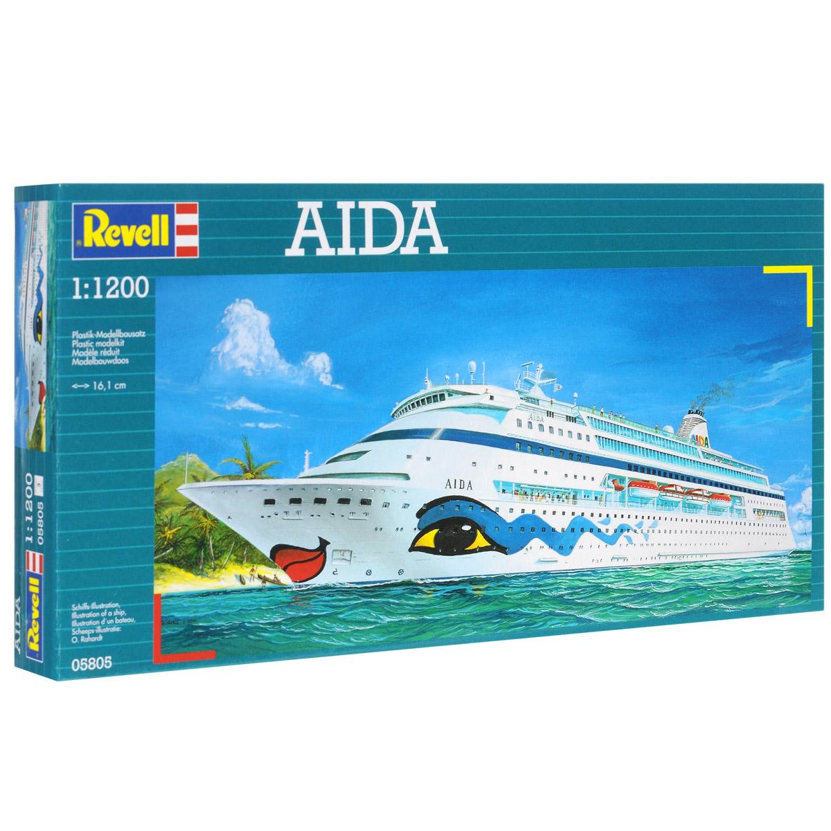 Сборная модель Revell Корабль Aida05805Сборная модель Revell Корабль Aida поможет вам и вашему ребенку придумать увлекательное занятие на долгое время. Набор включает в себя 28 пластиковых элементов, из которых можно собрать достоверную уменьшенную копию одноименного корабля. Флот компании Aida является одним из самых современных и экологически чистых в мире. Каждый корабль флота располагает несколькими ресторанами и барами, фитнес-клубами, кинотеатрами, казино и спортивными площадками. Также в наборе схематичная инструкция по сборке. Процесс сборки развивает интеллектуальные и инструментальные способности, воображение и конструктивное мышление, а также прививает практические навыки работы со схемами и чертежами. Уровень сложности: 3. УВАЖАЕМЫЕ КЛИЕНТЫ! Обращаем ваше внимание на тот факт, что элементы для сборки не покрашены. Клей и краски в комплект не входят.