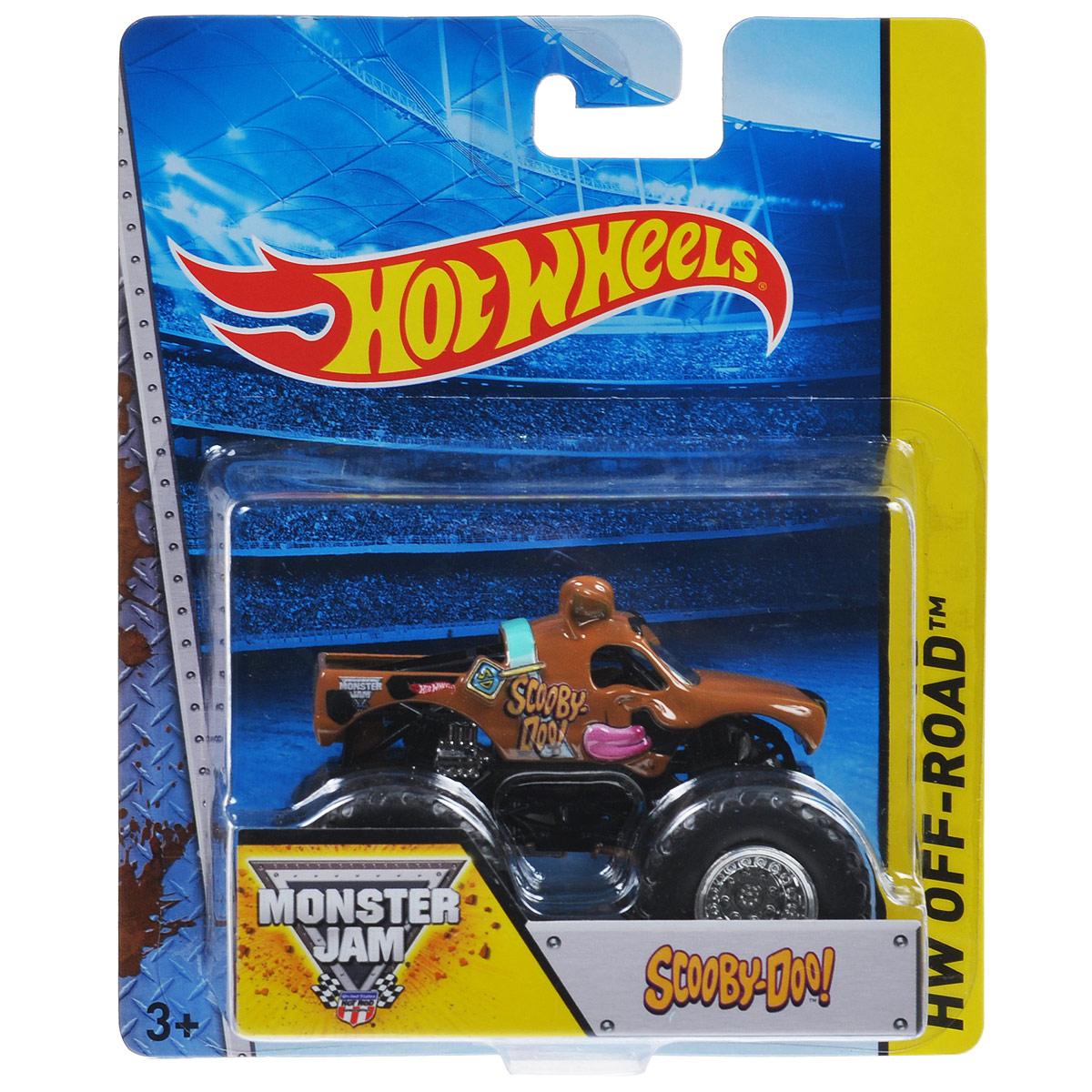 Hot Wheels Monster Jam Машинка Scooby-DooBHP37_DRR66Машинка Hot Wheels Monster Jam. Scooby-Doo - модель с литым корпусом в виде Скуби Ду, оснащенная большими колесами. Сверкающая кабина, хромированные диски и неповторимый тюнинг - то, что выделяет эту модель среди других. Ваш ребенок будет в восторге от такого подарка!