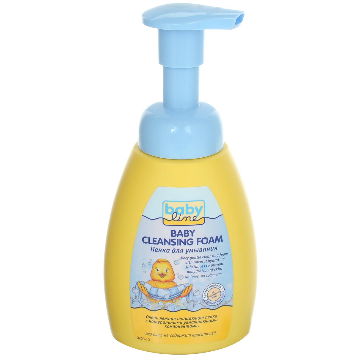BabyLine Пенка для умывания детская, без слез, 250 мл208042Детская пенка для умывания с благоприятными для кожи растительными экстрактами бережно моет и увлажняет кожу вашего малыша. Без слез. Не содержит мыла и консервантов. Содержит пшеничный протеин, бережно ухаживающий за кожей ребенка. Товар сертифицирован.
