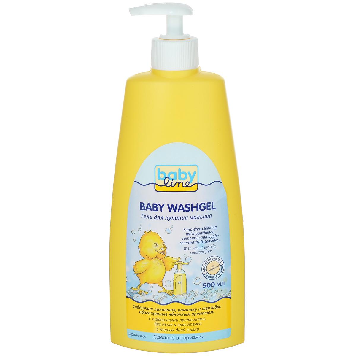 BabyLine Гель для купания малыша, с пшеничными протеинами, 500 мл208054Гель для купания специально разработан для ежедневной очистки чувствительной кожи вашего малыша. Мягкие моющие компоненты с ароматом яблока для нежной очистки. Протестировано аллергологами. Товар сертифицирован.