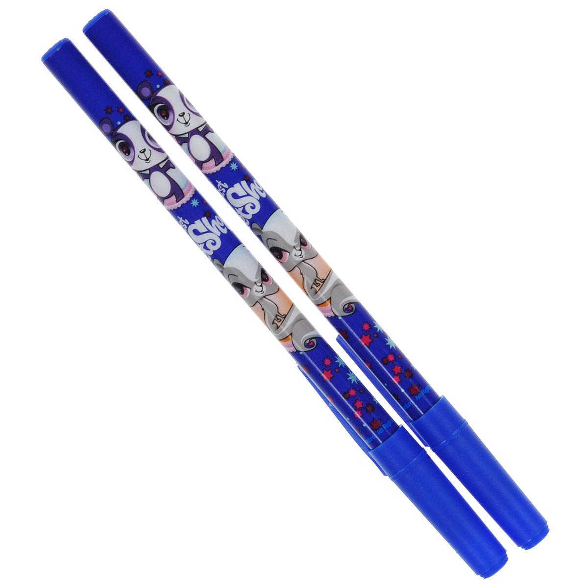Ручки шариковые, цвет пасты синий, 2 шт. Littlest Pet Shop