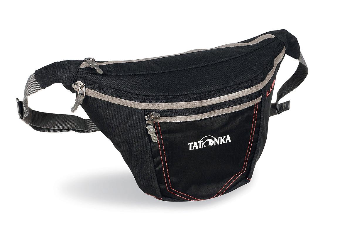 Сумка поясная Tatonka Ilium L, цвет: черный2222.040Tatonka Ilium L представляет собой удобную поясную сумку с регулируемым ремнем. Она оснащена вторым карманом на молнии, а также передним отделением с перегородкой. Имеется держатель для ключей. Сумка крепится на пояс при помощи ремня регулируемого по длине и застегивающегося на карабин. Состав материала: 450 HD Polyoxford; T-Rip; Cross Nylon 420 HD.
