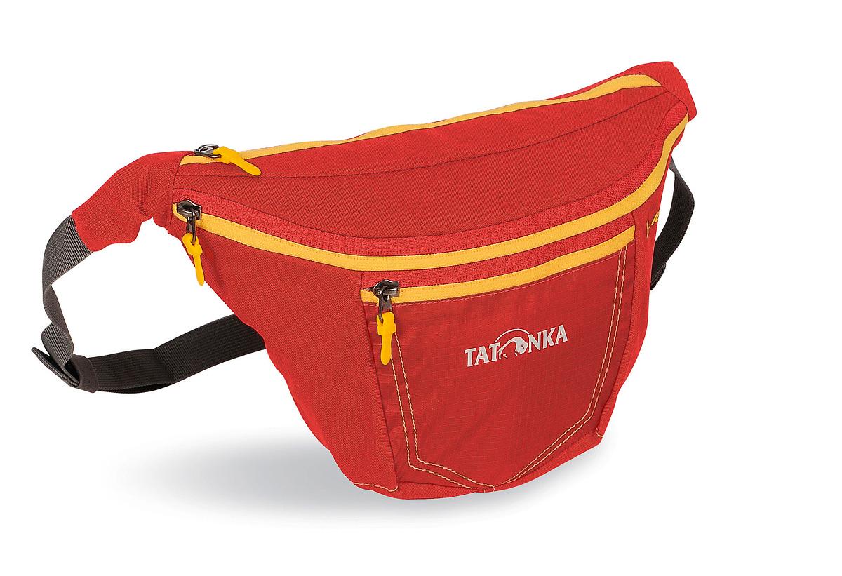 Сумка поясная Tatonka Ilium L, цвет: красный2222.015Tatonka Ilium L представляет собой удобную поясную сумку с регулируемым ремнем. Она оснащена вторым карманом на молнии, а также передним отделением с перегородкой. Имеется держатель для ключей. Сумка крепится на пояс при помощи ремня регулируемого по длине и застегивающегося на карабин. Состав материала: 450 HD Polyoxford; T-Rip; Cross Nylon 420 HD.