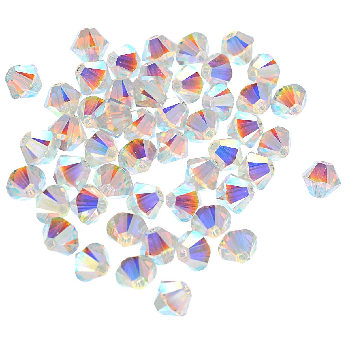 Бусины Swarovski Elements Кристалл, цвет: перламутровый (crystal AB), диаметр 4 мм, 50 шт. 389026crystal AB2X389026_crystal AB2XНабор бусин Swarovski Elements Кристалл, изготовленный из стекла с радужным покрытием, позволит вам своими руками создать оригинальные ожерелья, бусы или браслеты. Изготовление украшений - занимательное хобби и реализация творческих способностей рукодельницы, это возможность создания неповторимого индивидуального подарка.