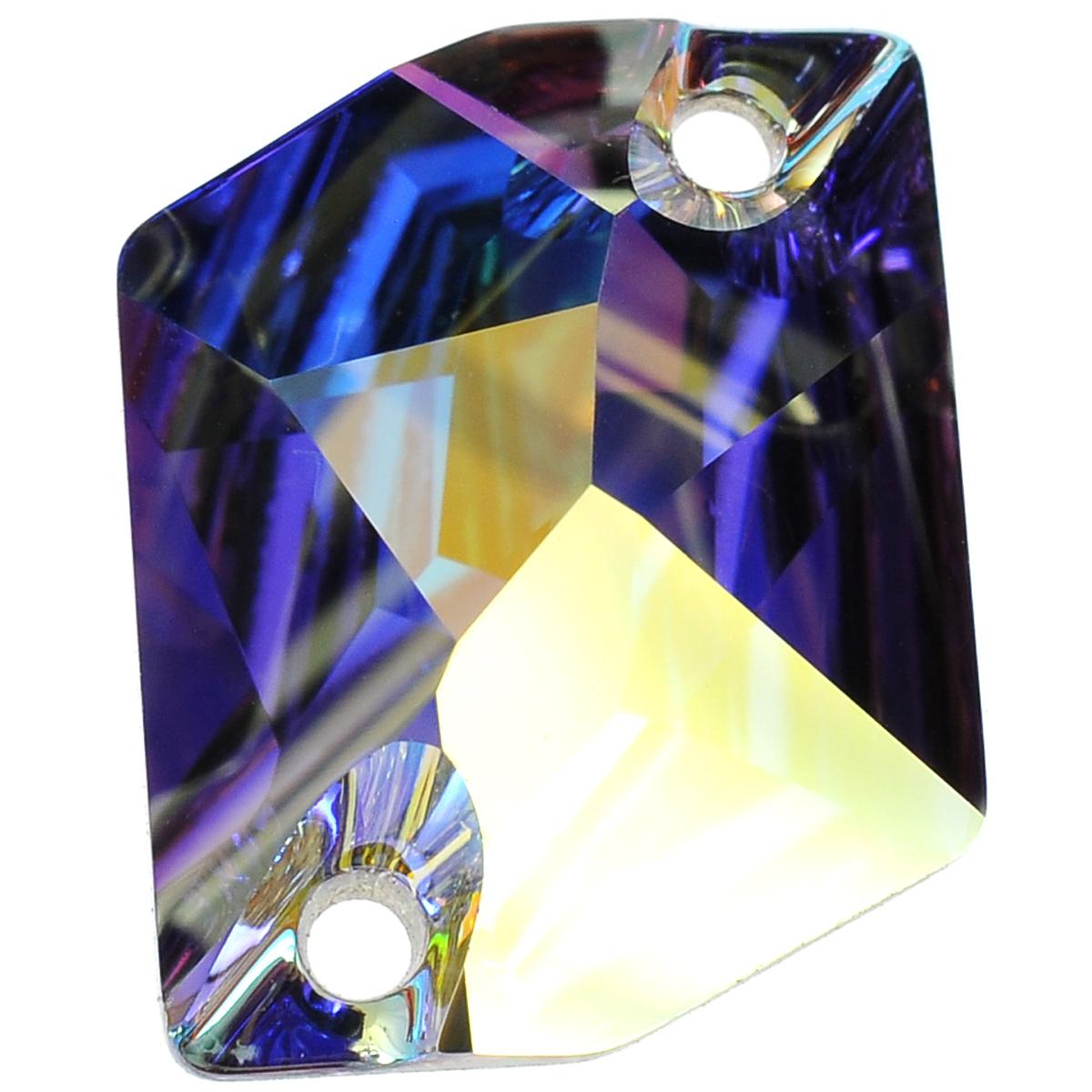 Камень нашивной Swarovski Elements, цвет: перламутровый (crystal AB), 20 мм х 16 мм691215_crystal ABНашивной камень Swarovski Elements неправильной формы может быть пришит на любой тип ткани или принадлежностей. Имеет 2 отверстия для пришивания. Украшения, созданные своими руками, подчеркнут образ вашей маленькой модницы или послужат чудесным подарком для друзей и близких.