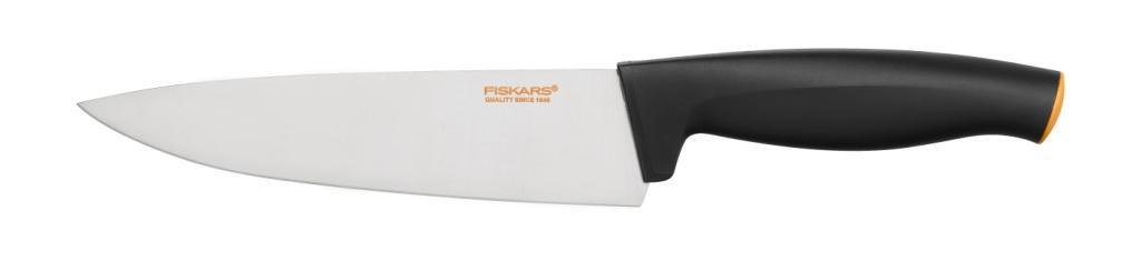 Поварской нож Fiskars, с широким лезвием, 16 см1014195Поварской нож Fiskars прекрасно подойдет для шинковки овощей и нарезки мяса. Особенности ножа: Высокое качество: безопасность, прочность, гигиеничность. Функциональность: легко использовать, мыть и хранить. Привлекательный дизайн. Высококачественная сталь и заточка обеспечивают остроту лезвия. Длинное лезвие запрессовано в рукоятку. Современный и очень удобный дизайн рукоятки. Улучшенный материал рукоятки: SoftGrip, улучшена устойчивость к мытью в посудомоечной машине.