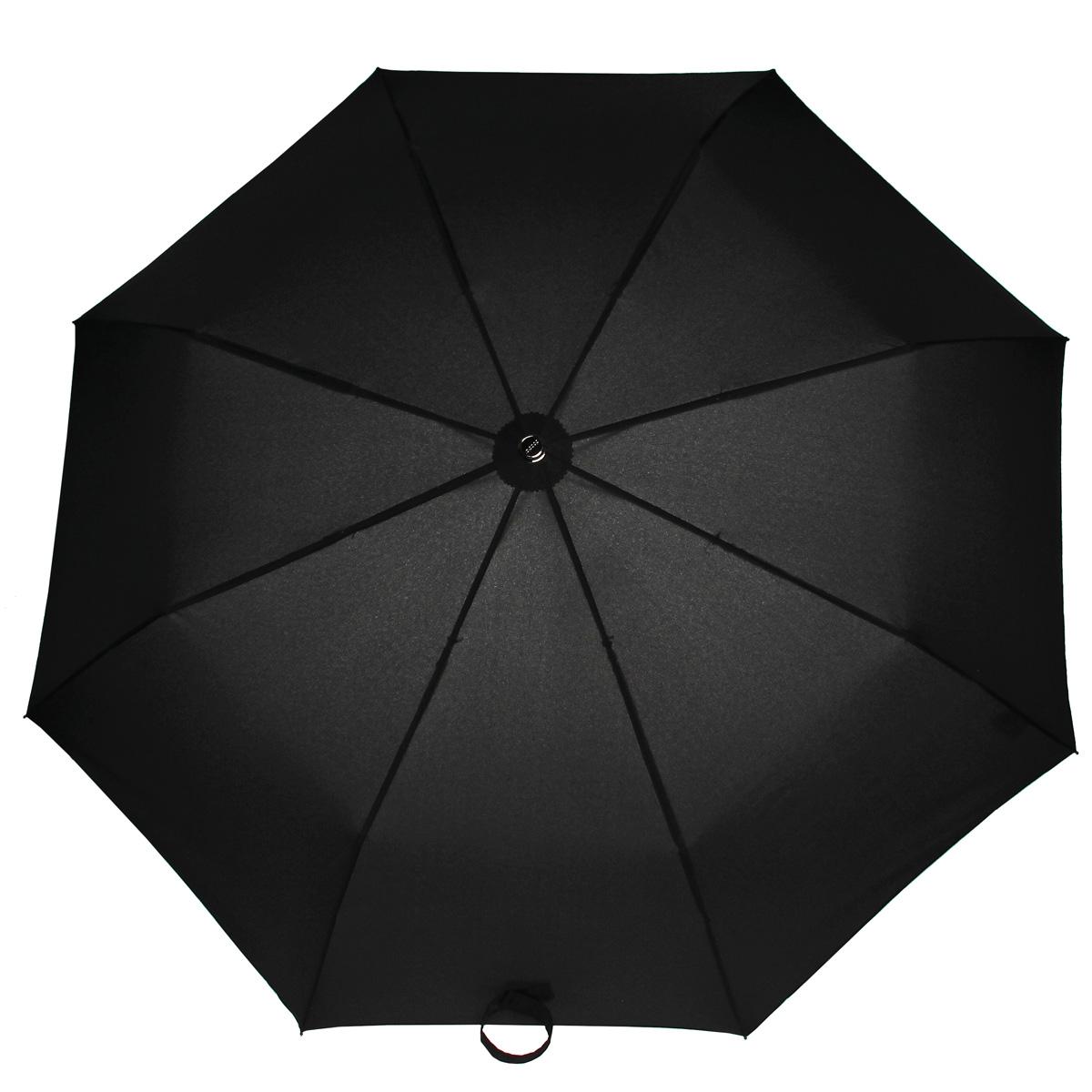 Зонт мужской Doppler, автомат, 3 сложения, цвет: черный. 74667GFG74667GFG blackКлассический автоматический зонт Doppler в 3 сложения отлично подойдет для ненастной погоды. Каркас зонта, исполненный из стали, состоит из восьми карбоновых спиц и прочного стержня. Купол зонта выполнен из полиэстера и исполнен в лаконичном стиле. Изделие снабжено системой Антиветер. Модель оснащена закругленной рукояткой из дерева. Зонт имеет полный автоматический механизм сложения: купол открывается и закрывается нажатием кнопки на рукоятке, стержень складывается вручную до характерного щелчка. Благодаря этому открыть и закрыть зонт можно одной рукой, что чрезвычайно удобно при входе в транспорт или помещение. Модель закрывается при помощи ремня на липучке. К зонту прилагается чехол. Стильный зонт - незаменимая вещь в гардеробе каждого мужчины. Он не только надежно защитит от дождя, но и прекрасно дополнит ваш элегантный образ.