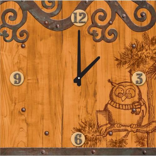 Часы настенные Сова. 2780027800Настенные часы квадратной формы Сова своим эксклюзивным дизайном подчеркнут оригинальность интерьера вашего дома. Часы выполнены из стекла. Часы имеют две стрелки - часовую и минутную. Циферблат часов не защищен стеклом. Настенные часы Сова подходят для кухни, гостиной, прихожей или дачи, а также могут стать отличным подарком для друзей и близких. Часы работают от одной батарейки типа АА (не входят в комплект).