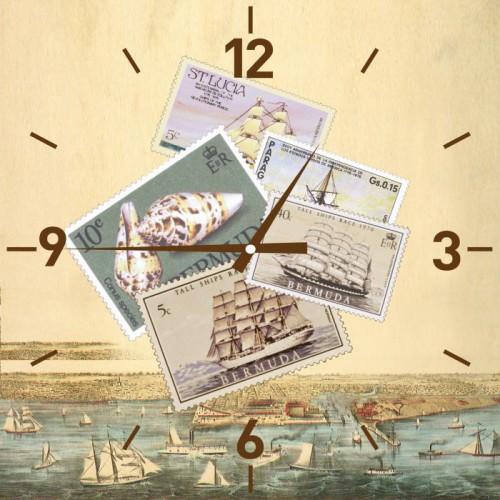 Часы настенные Марки, кварцевые. 2781127811Настенные кварцевые часы Марки своим эксклюзивным дизайном подчеркнут оригинальность интерьера вашего дома. Часы выполнены из стекла и оформлены изображением марок. Тип индикации - римские цифры и отметки. Часы имеют две стрелки - часовую и минутную. С задней стороны имеется петелька для подвешивания на стену. Для кухни, гостиной, прихожей или дачи - вы обязательно найдете ту модель, которая вам понравится. Часы работают от одной батарейки типа АА мощностью 1,5V (в комплект не входит). Размер корпуса (ДхШ): 30 см х 30 см. Внимание! Уважаемые клиенты, обращаем ваше внимание на тот факт, что циферблат часов не защищен стеклом!
