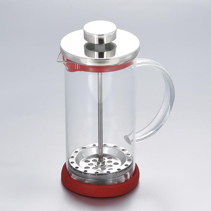 Френч-пресс Apollo Olimpique, цвет: красный, 350 млOLM-350Френч-пресс Apollo Olimpique изготовлен из высококачественной нержавеющей стали и жаропрочного стекла. Фильтр-поршень из нержавеющей стали выполнен по технологии press-up для обеспечения равномерной циркуляции воды. Засыпая чайную заварку или кофе под фильтр, заливая горячей водой, вы получаете ароматный напиток с оптимальной крепостью и насыщенностью. Остановить процесс заваривания легко, для этого нужно просто опустить поршень, и все уйдет вниз, оставляя вверху напиток, готовый к употреблению. Френч-пресс Apollo позволит быстро и просто приготовить свежий и ароматный кофе или чай. Нельзя мыть в посудомоечной машине.