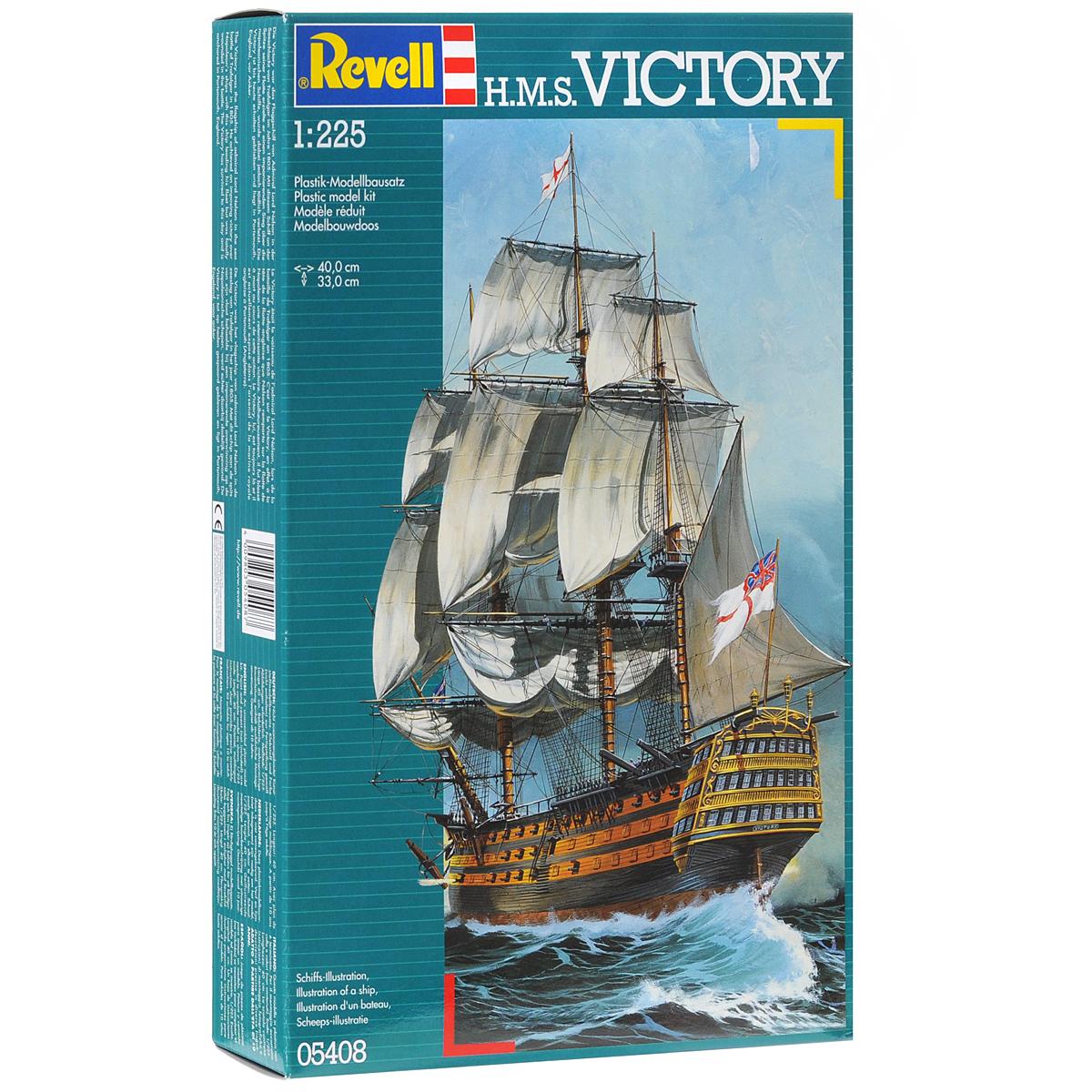 Сборная модель Revell Корабль H.M.S. Victory05408Сборная модель Revell Корабль H.M.S. Victory поможет вам и вашему ребенку придумать увлекательное занятие на долгое время. Набор включает в себя 269 пластиковых элементов, из которых можно собрать достоверную уменьшенную копию одноименного корабля. Корабль H.M.S. Victory относился к кораблям первого ранга Королевского флота Великобритании и был под командованием адмирала Нельсона в битве при Трафальгаре. На борту этого судна прославленный британский адмирал получил смертельное ранение. С 1812 года H.M.S. Victory не принимал участия в сражениях. Сейчас он находится на постоянной стоянке в доке города Портсмут и переделан в музей. Также в наборе схематичная инструкция по сборке. Процесс сборки развивает интеллектуальные и инструментальные способности, воображение и конструктивное мышление, а также прививает практические навыки работы со схемами и чертежами. Уровень сложности: 5. УВАЖАЕМЫЕ КЛИЕНТЫ! Обращаем ваше внимание на тот факт, что...