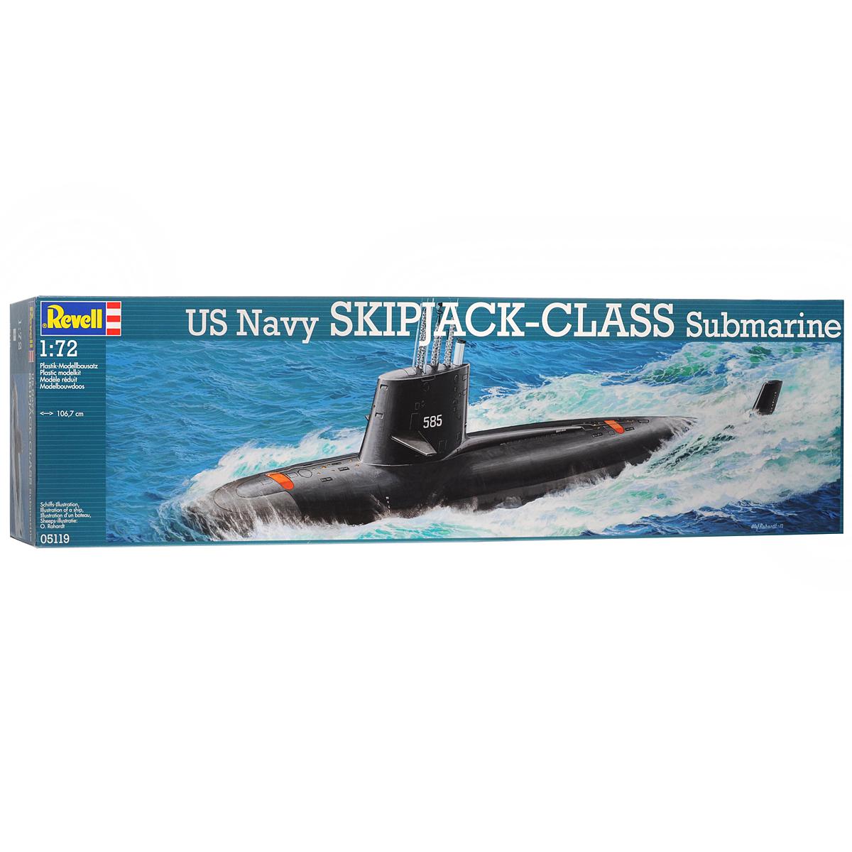 """Сборная модель Revell """"Подводная лодка US Navy Skipjack-Class Submarine"""""""