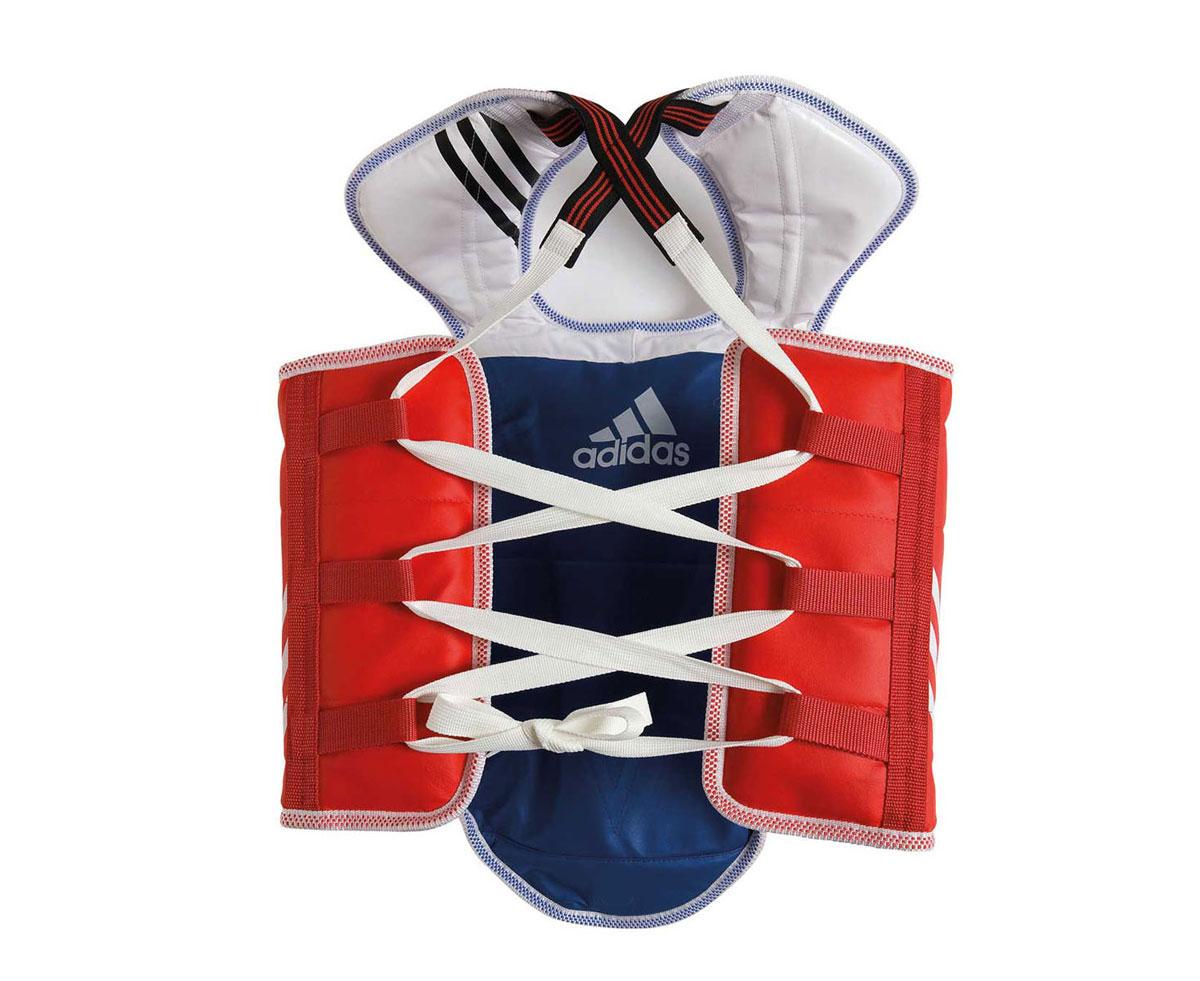 Защита двухсторонняя Adidas Adult Taekwondo Body Protector Revesible WTF, цвет: сине-красный. Размер SadiTAP01