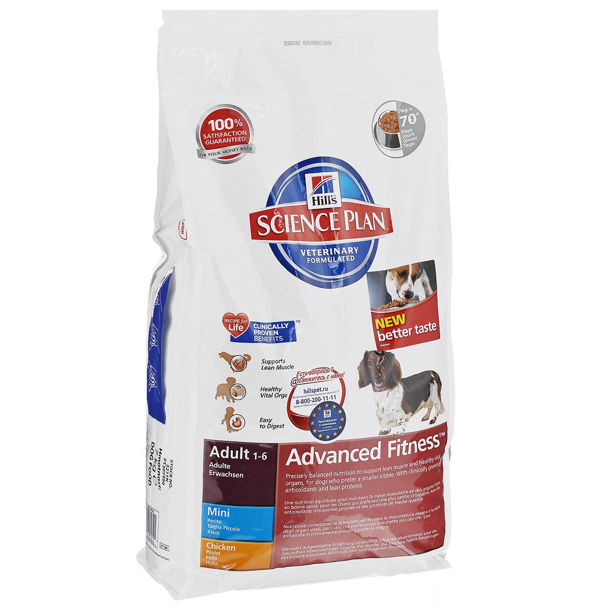 Корм сухой Hills Advanced Fitness для взрослых собак мелких пород, с курицей, 7 кг3271Корм сухой Hills предназначен для взрослых собак мелких пород в возрасте от 1 года до 6 лет. Разработан для поддержания мускулатуры и здоровья жизненно важных органов у собак, предпочитающих мелкие гранулы. С антиоксидантами с клинически подтвержденным эффектом, протеином для мускулатуры и Омега-3 жирными кислотами. Ключевые преимущества: Высоко перевариваемый протеин для крепкой мускулатуры. Поддерживает здоровье внутренних органов благодаря оптимальному балансу фосфора и натрия. Высоко перевариваемые ингредиенты. Великолепный вкус. Состав: курица (минимум 20% курицы, 30% общего содержания мяса домашней птицы), молотая кукуруза, мука из мяса домашней птицы, соевая мука, животный жир, мука из маисового глютена, гидролизат белка, растительное масло, соль, семя льна, калия цитрат, L-лизина гидрохлорид, кальция карбонат, таурин, L-триптофан, витамины и микроэлементы. Содержит натуральные консерванты - смесь токоферолов, лимонную...