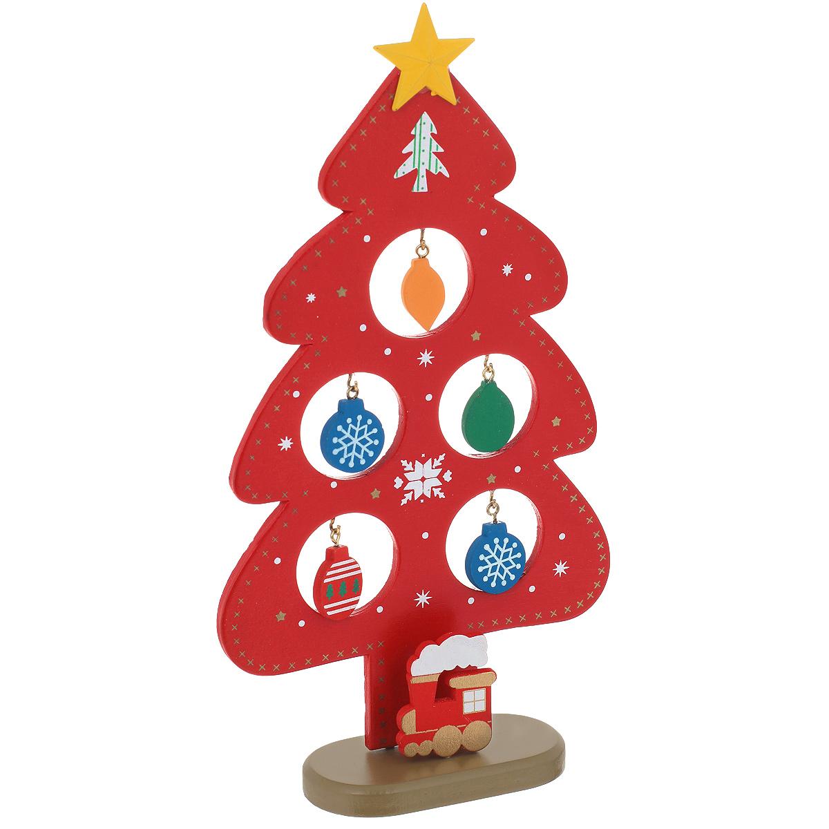 Новогоднее деревянное украшение