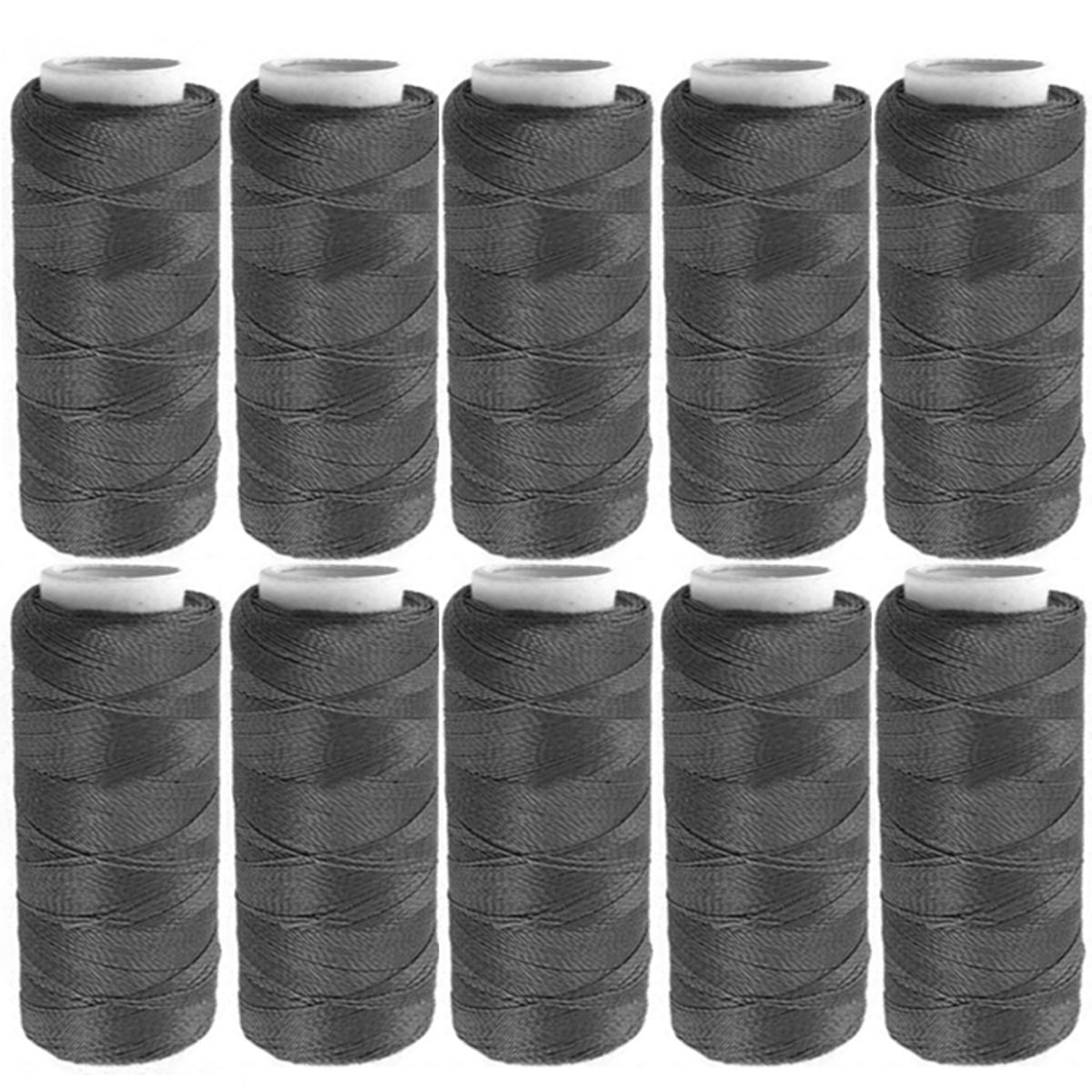 Набор ниток, цвет: темно-серый, 120 м, 10 шт. 675491675491