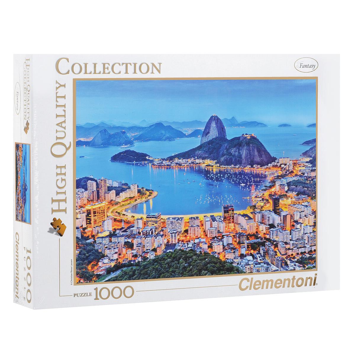 Рио-де-Жанейро. Пазл, 1000 элементов39258Пазл Clementoni Рио-де-Жанейро, без сомнения, придется по душе вам и вашему ребенку. Собрав этот пазл, включающий в себя 1000 элементов, вы получите цветной оригинальный постер с изображением знаменитого города. Рио-де-Жанейро или просто Рио - город в Бразилии, административный центр одноименного штата. Город расположен на берегу залива Гуанабара Атлантического океана, на узкой равнине, зажатой с двух сторон горами и морем. Пазлы - прекрасное антистрессовое средство для взрослых и замечательная развивающая игра для детей. Собирание пазла развивает у ребенка мелкую моторику рук, тренирует наблюдательность, логическое мышление, знакомит с окружающим миром, с цветом и разнообразными формами, учит усидчивости и терпению, аккуратности и вниманию. Собирание пазла - прекрасное времяпрепровождение для всей семьи.