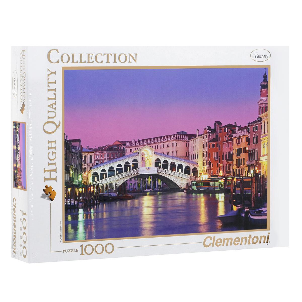 Мост Риальто. Пазл, 1000 элементов39068Пазл Clementoni Мост Риальто, без сомнения, придется по душе вам и вашему ребенку. Собрав этот пазл, включающий в себя 1000 элементов, вы получите цветной оригинальный постер с изображением одного из четырех мостов Гранд-канала в Венеции. Каменный мост Риальто, сохранившийся до наших дней, был построен в конце 16 века. Впервые на этом месте возвели деревянный мост в 13 веке, но в 1444 году он рухнул и на его месте построили другой. На протяжении долгого времени мосты Риальто неоднократно рушились. Лишь мост, спроектированный Антонио де Понте, дошел до наших дней. Пазлы - прекрасное антистрессовое средство для взрослых и замечательная развивающая игра для детей. Собирание пазла развивает у ребенка мелкую моторику рук, тренирует наблюдательность, логическое мышление, знакомит с окружающим миром, с цветом и разнообразными формами, учит усидчивости и терпению, аккуратности и вниманию. Собирание пазла - прекрасное времяпрепровождение для всей семьи.