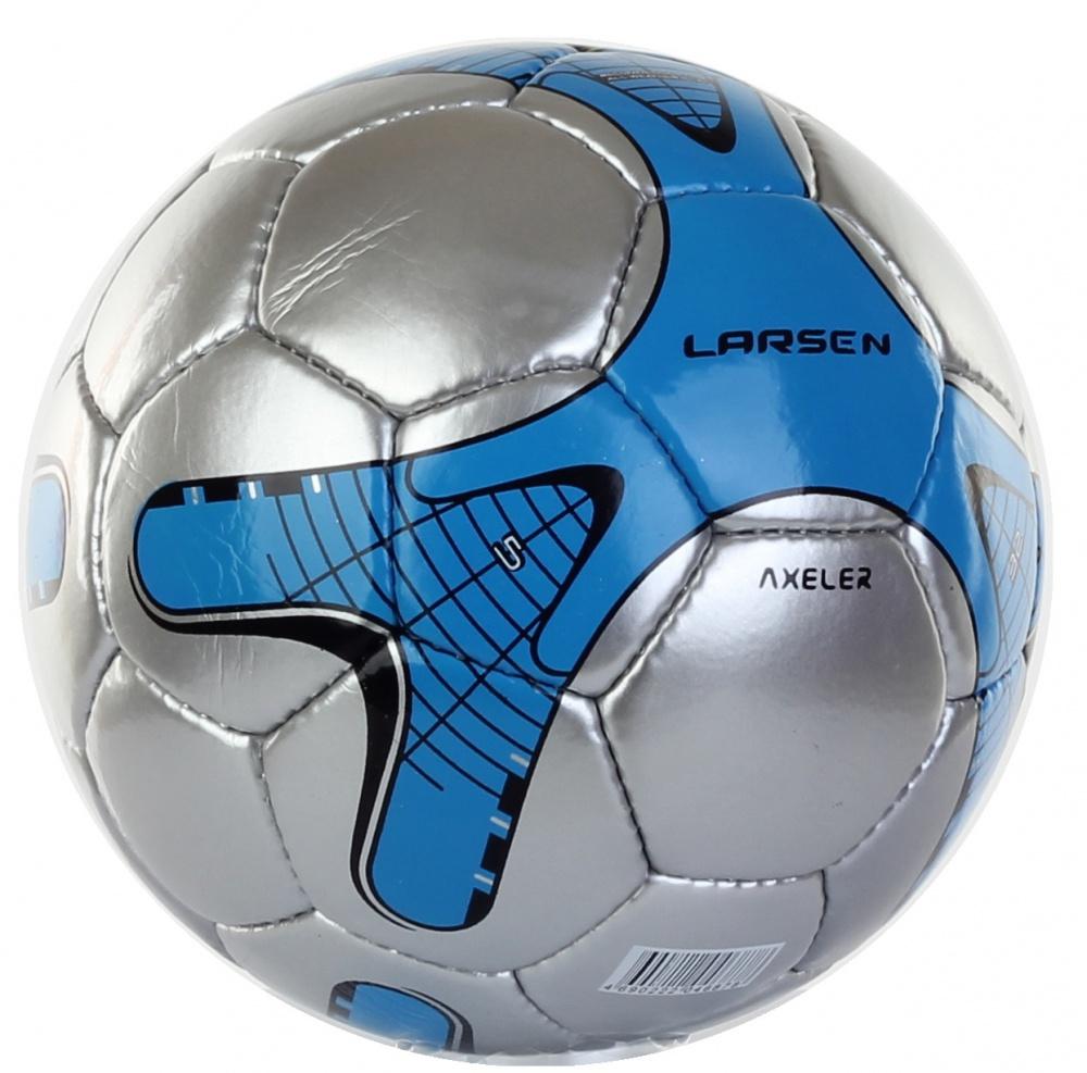 """Мяч футбольный Larsen """"Axeler"""", цвет: синий, серебряный. Размер 5"""