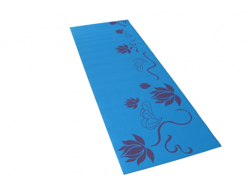 Коврик для фитнеса и йоги Alonsa, цвет: голубой, 173 см х 60 см х 0,5 см