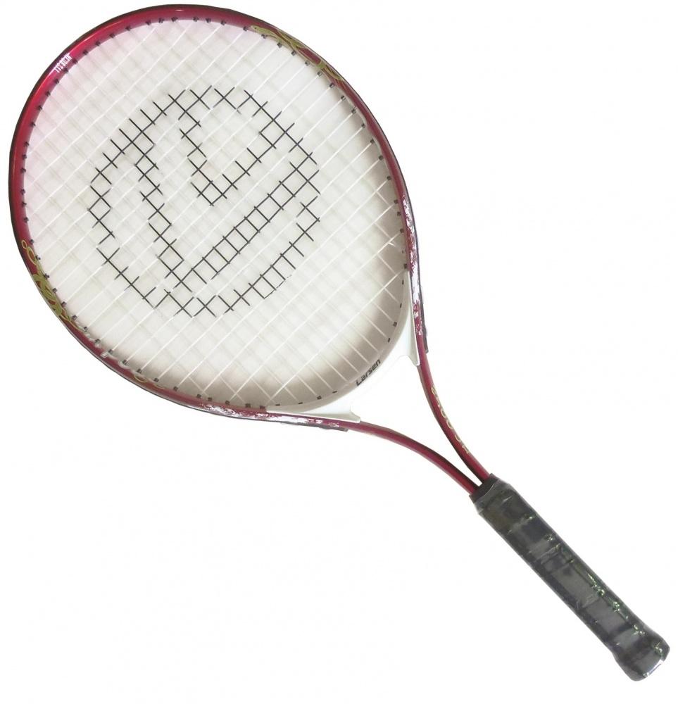Ракетка для большого тенниса Larsen JR2500275368Ракетка для большого тенниса Larsen JR2500 предназначена специально для начинающих игроков. Ручка ракетки отлично закрепляется в руке. Легкость материала обеспечивает быстрый размах ракеткой и хороший контроль мяча на поле. Игра с Larsen JR2500 доставит вам немало удовольствия. Рекомендуемое натяжение: 45-50 lbs/20-22 кг. Вес: 305 +/- 5 г.