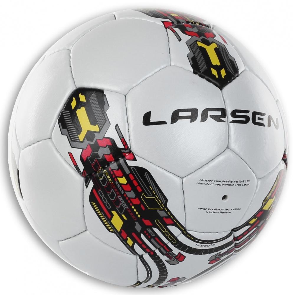 Мяч футбольный Larsen Futsal Sala. Размер 331944Футбольный мяч Larsen Futsal Sala подойдет для игры на всех покрытиях. Он выполнен из синтетической кожи и полиуретана. Матовая поверхность. Имеет 3 слоя подкладочного материала - 2 слоя поликоттон и 1 хлопок. Ручная сшивка. 32 панели. Камера выполнена из латекса с наполнителем из полиэстера. Окружность: 63,5-66 см .