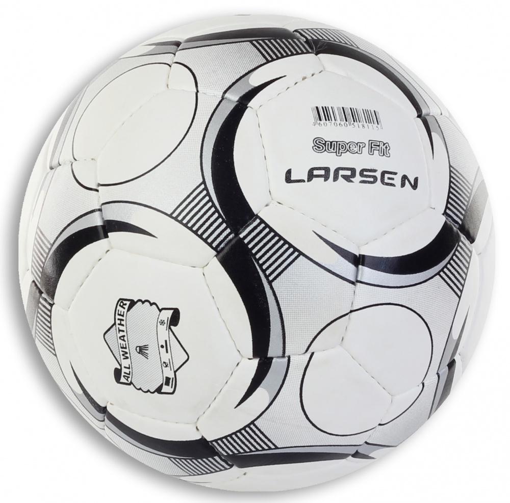 Мяч футбольный Larsen SuperFit, цвет: белый, черный. Размер 574847Мяч футбольный Larsen SuperFit, цвет: белый, черный. Размер 5 Футбольный мяч Larsen SuperFit подойдет для игры на всех покрытиях. Он выполнен из синтетической кожи и полиуретана. Матовая поверхность. Имеет 4 слоя подкладочного материала - 3 слоя поликоттон и 1 хлопка. Ручная сшивка. 32 панели. Камера выполнена из латекса, с бутиловым ниппелем (60-65 г). Окружность: 68-69 см. Вес: 400-440 г.