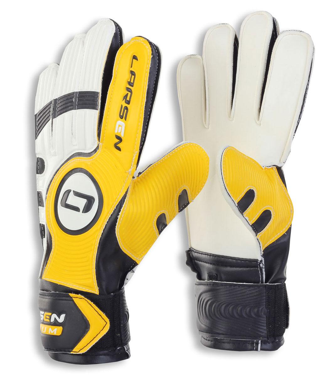 "Larsen Перчатки вратарские Larsen ""Radium"", цвет: черный, желтый. Размер 6"