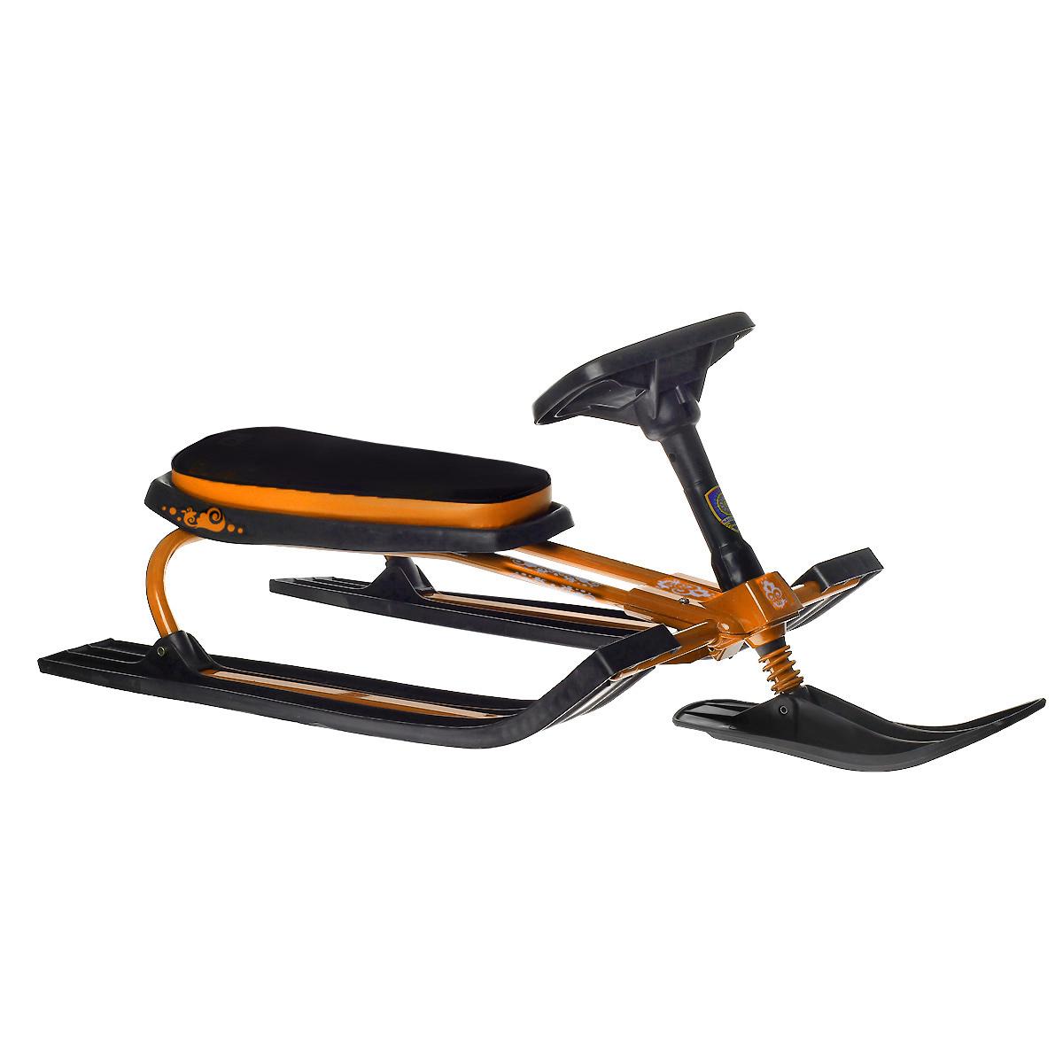 Снегокат Navigator Trike, с гудком, цвет: черно-оражневый