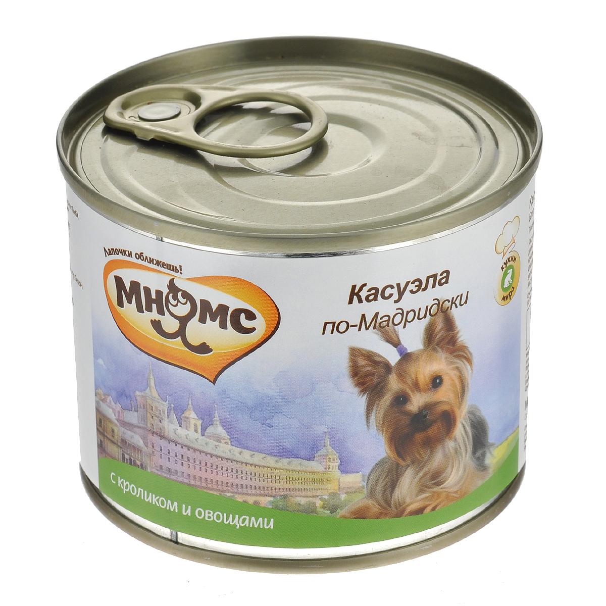 Консервы для собак Мнямс Касуэла по-Мадридски, с кроликом и овощами, 200 г57671Полнорационные корма Мнямс, производимые в Германии, содержат все необходимое для здоровой и счастливой жизни вашего питомца. Входящие в состав ингредиенты абсолютно натуральны, сбалансированы и при этом обладают высокой вкусовой привлекательностью. Косуэла - очень популярное блюдо в Испании и странах Латинской Америки. Его готовят из различных сортов мяса и даже морепродуктов, с обязательным добавлением овощей и бобовых. Для косуэлы по-мадридски выбирают мясо кролика. Тушку разрезают на кусочки и выкладывают на противень с растопленным сливочным маслом, затем добавляют лук, сладкий перец, помидоры и заранее подготовленную фасоль. Блюдо заливают белым вином и сначала тушат, а потом запекают до золотистой корочки. Нежное мясо кролика, душистая фасоль, пряный вкус овощей и приправ делают косуэлу по-мадридски настоящим деликатесом. При кормлении необходимо учитывать возраст и активность животного. Собака всегда должна иметь доступ к свежей...